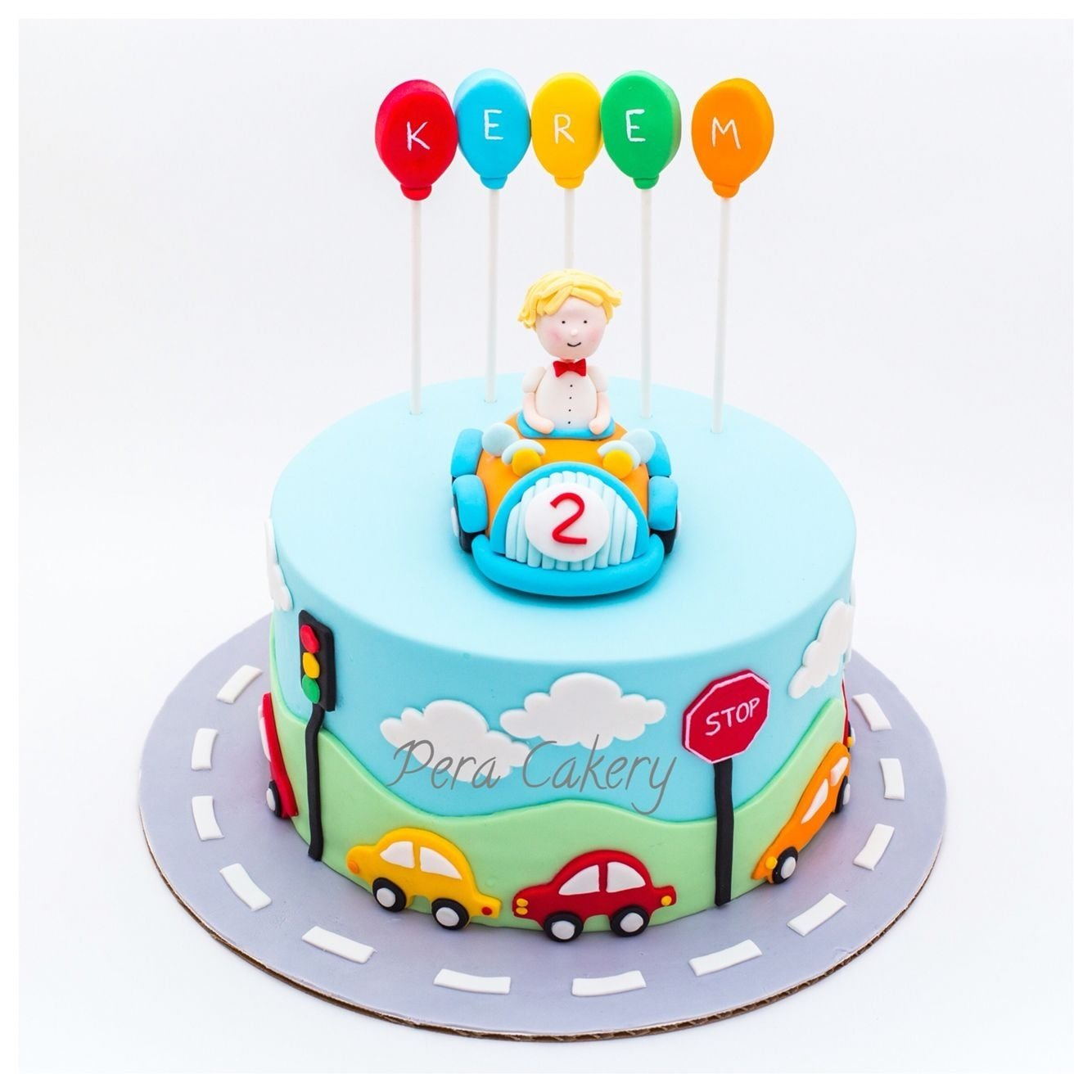 car cake for a 2 year old boy | pera cakery cakes | pinterest | car