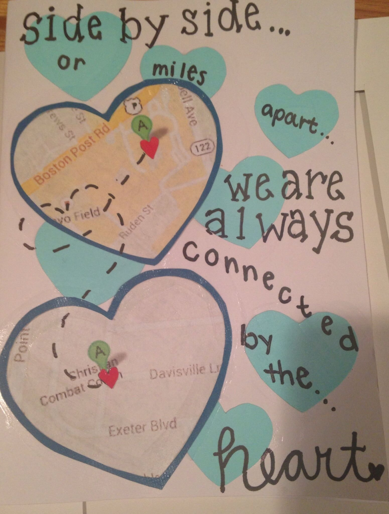 10 Wonderful Cute Ideas For Long Distance Relationships card for my boyfriend on our one year anniversary long distance 2020