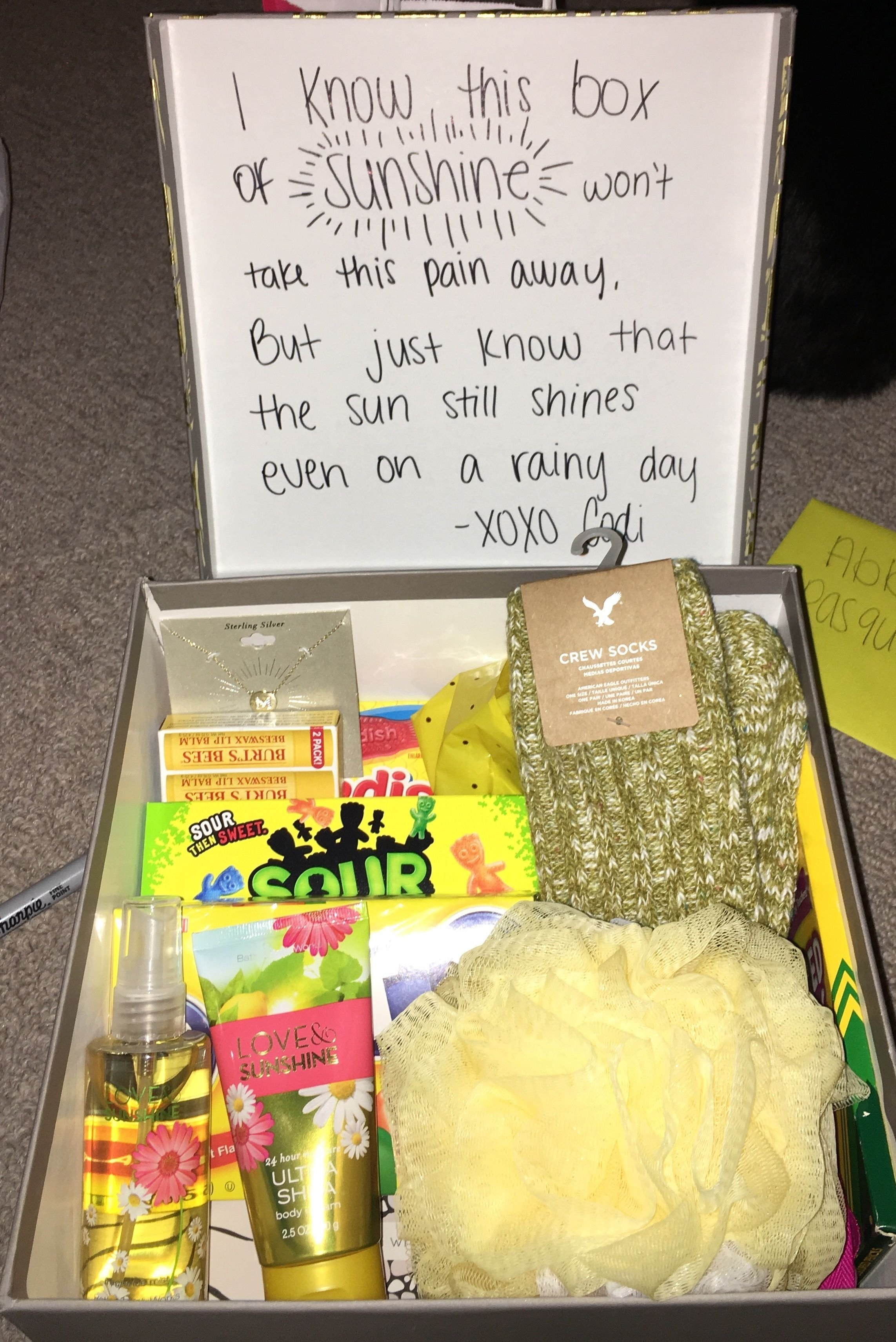 10 Amazing Birthday Ideas For A Friend care package for grieving friend good idea pinterest gift 15