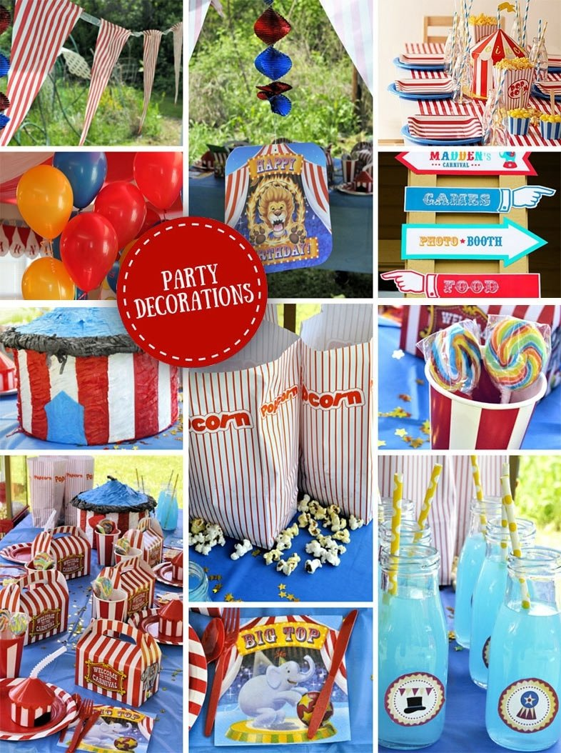 10 Fashionable Carnival Themed Birthday Party Ideas carnival party ideas circus party ideas at birthday in a box 2021