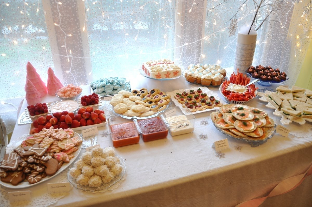 10 Lovely Food Ideas For A Birthday Party carolines sparkle snowflake first birthday 9 2021