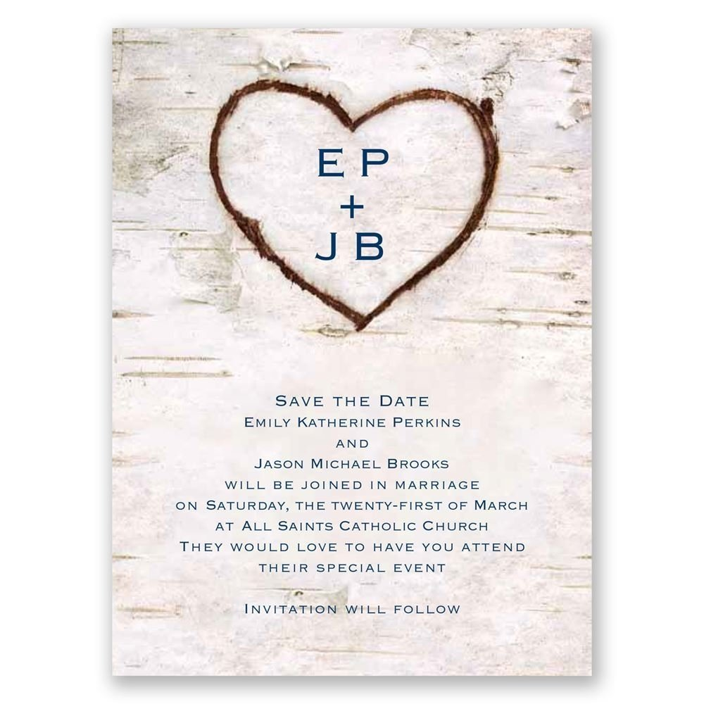 10 Fashionable Save The Date Invitations Ideas carved in love save the date card invitationsdawn 1
