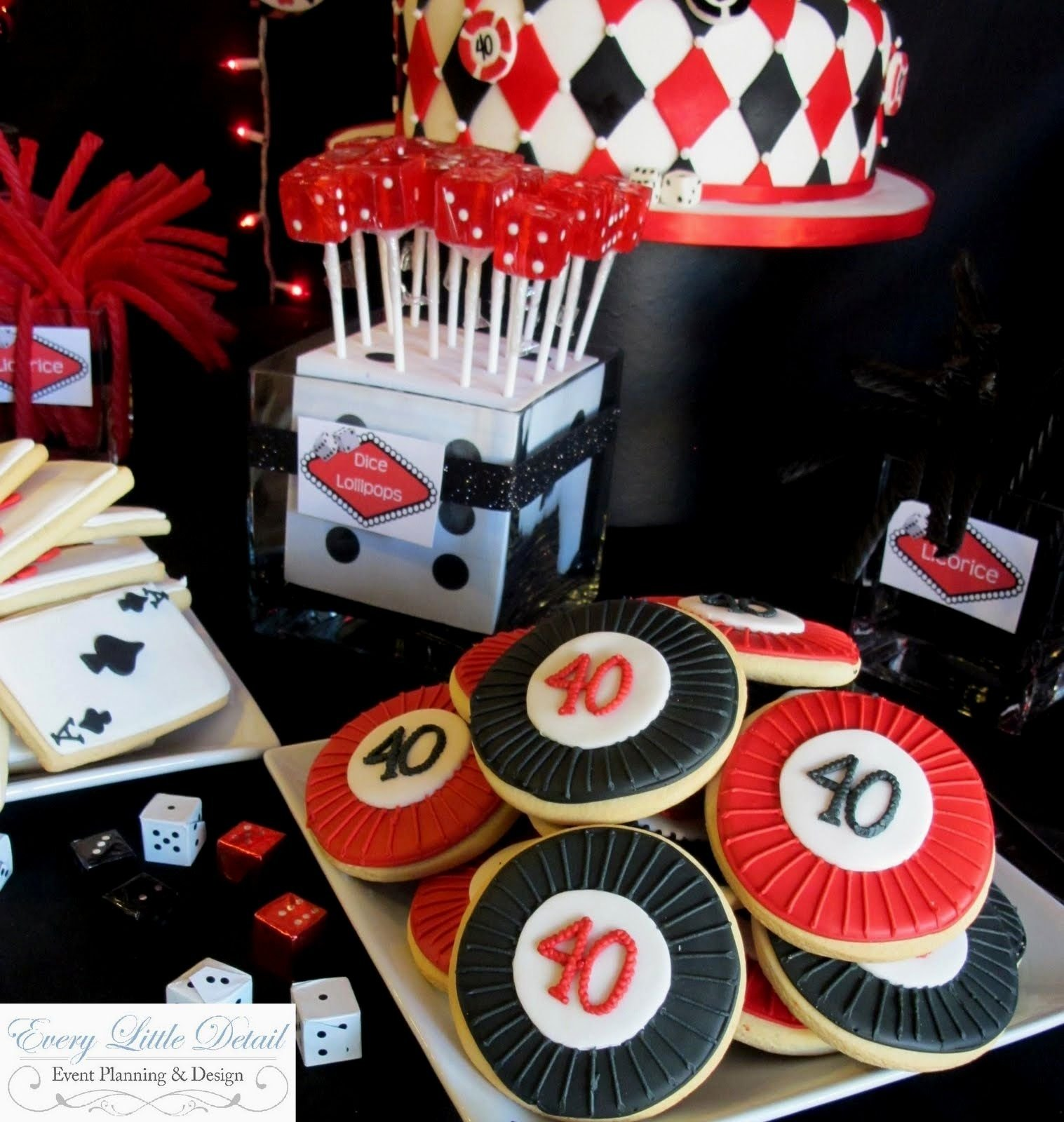 casino birthday party ideas for adults - decorating of party