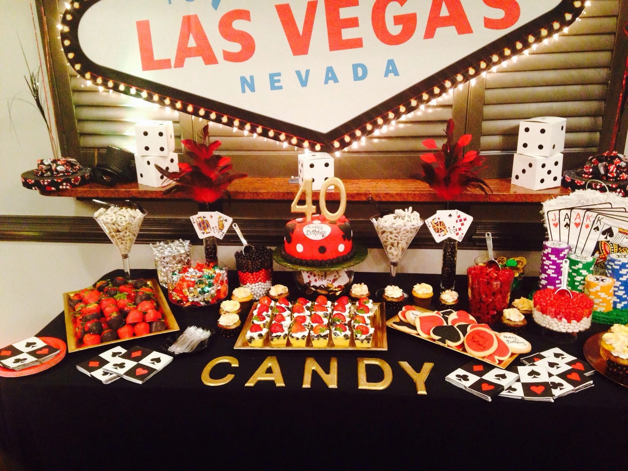10 Stunning Las Vegas Birthday Party Ideas casino theme candy buffett my cakesbabycakesshingy 2020