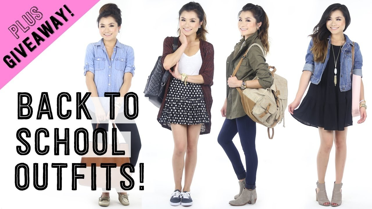 10 Attractive Outfit Ideas For High School casual back to school outfit ideas giveaway collaboration 2 2020