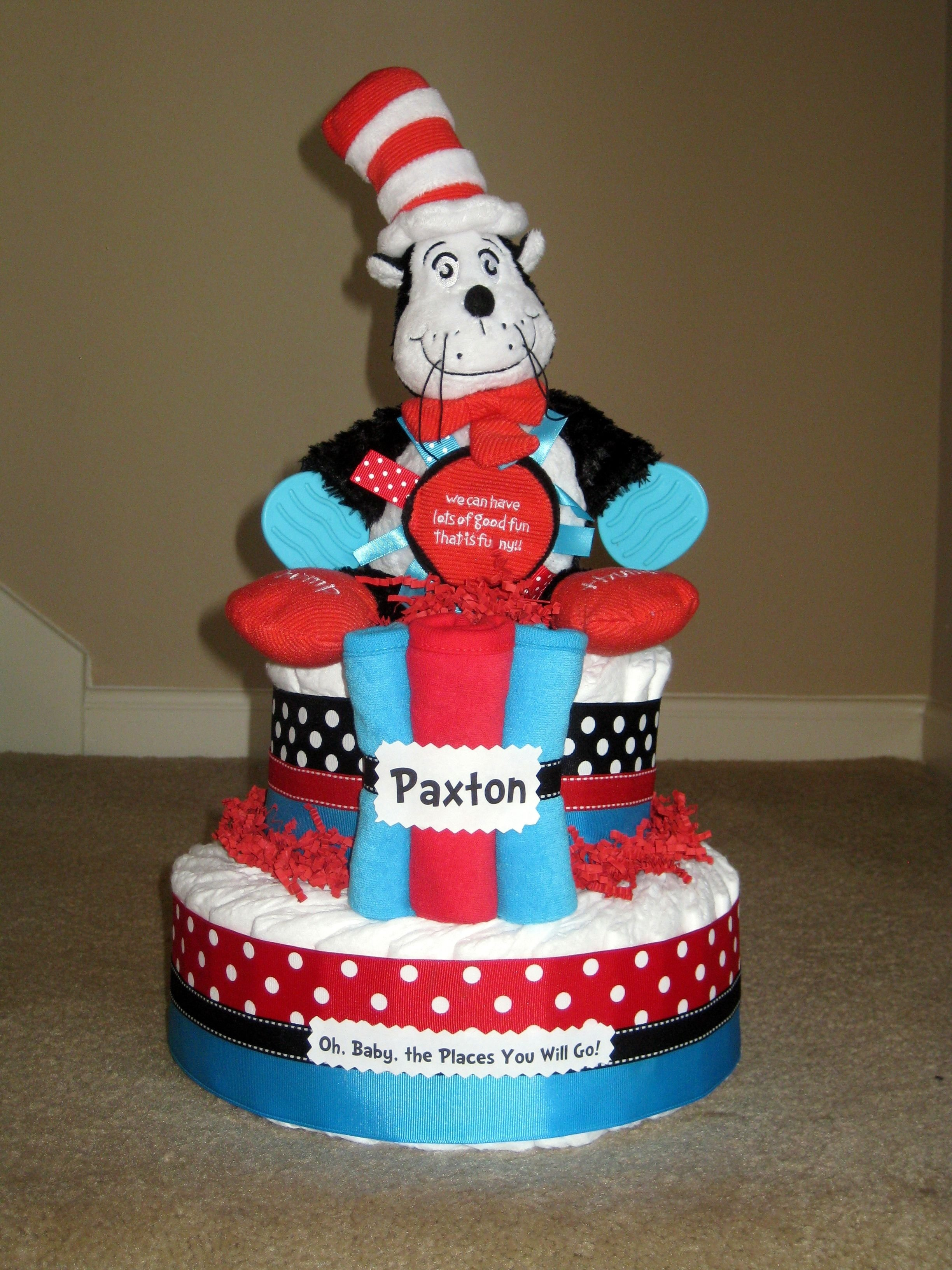10 Attractive Cat In The Hat Cake Ideas cat in the hat cake diapers cat and cake