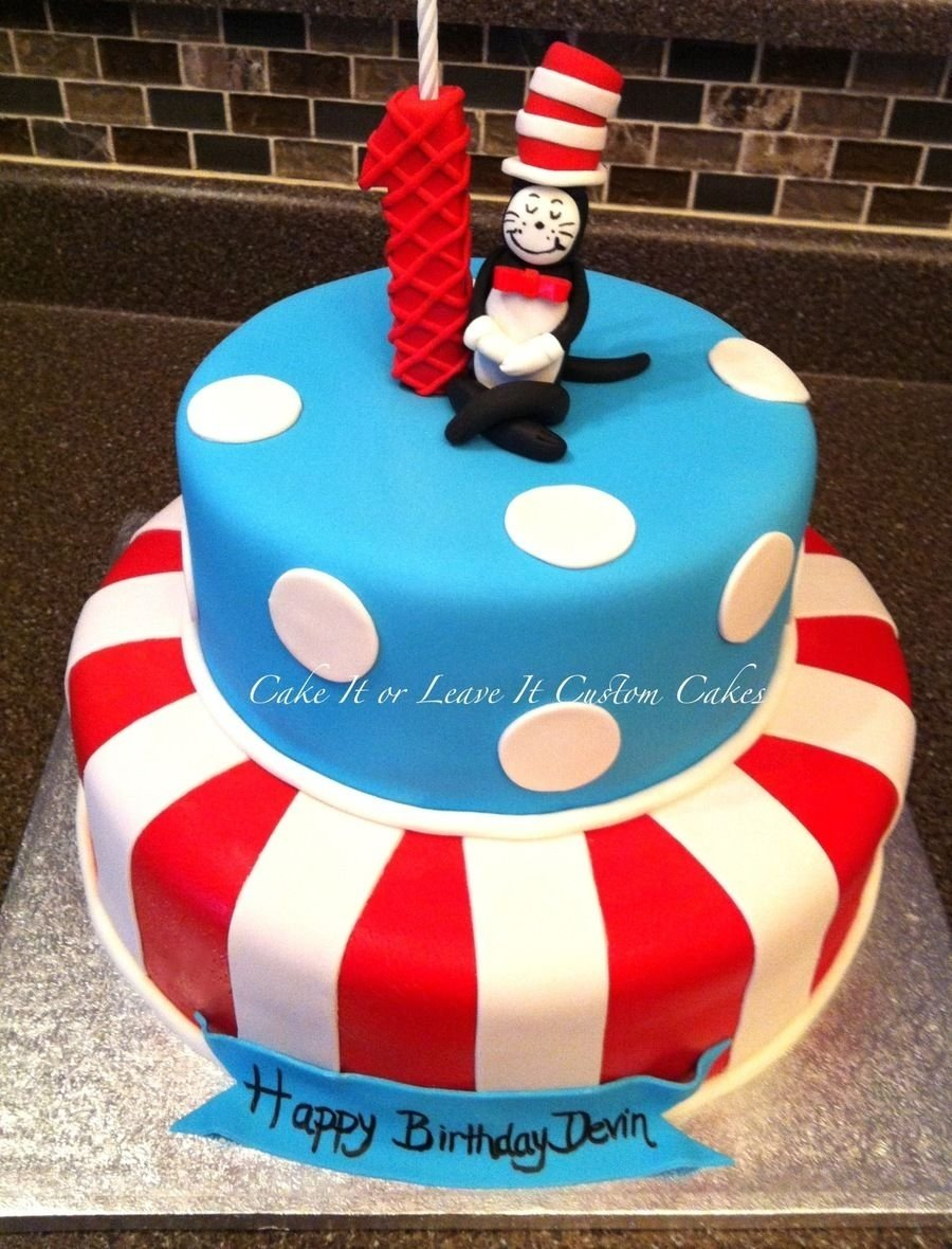 10 Nice Cat In The Hat Birthday Ideas cat in the hat cake on cake central second birthday ideas 2020