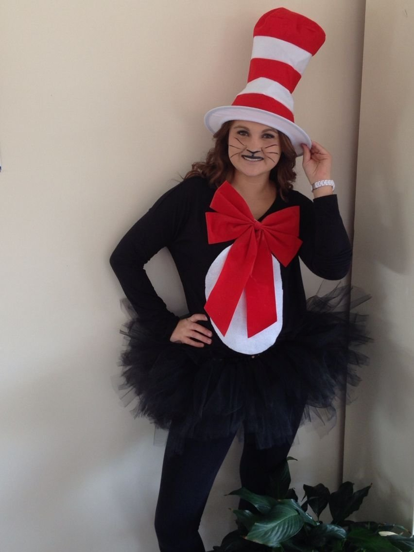cat in the hat costume for $11 easy diy | holidays | pinterest