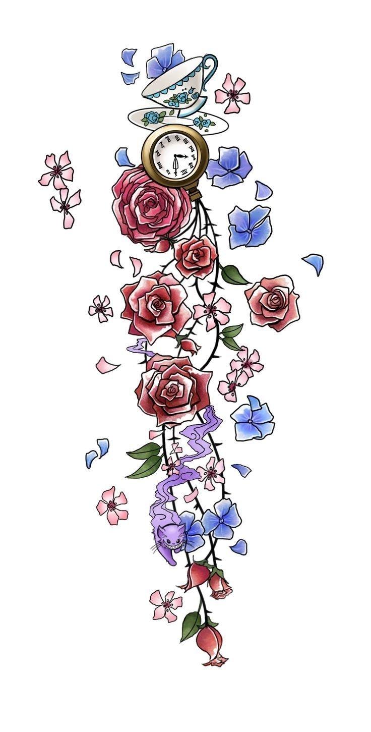 10 Trendy Alice In Wonderland Tattoo Ideas cat tattoos alice in wonderland mad hatter tattoo designs car 2021