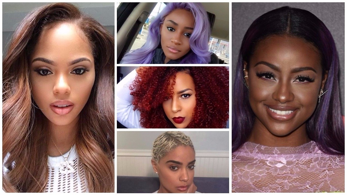 10 Great Hair Color Ideas For Dark Skin Tones catchy hair color ideas for black women in 2018 hairstyles 2018