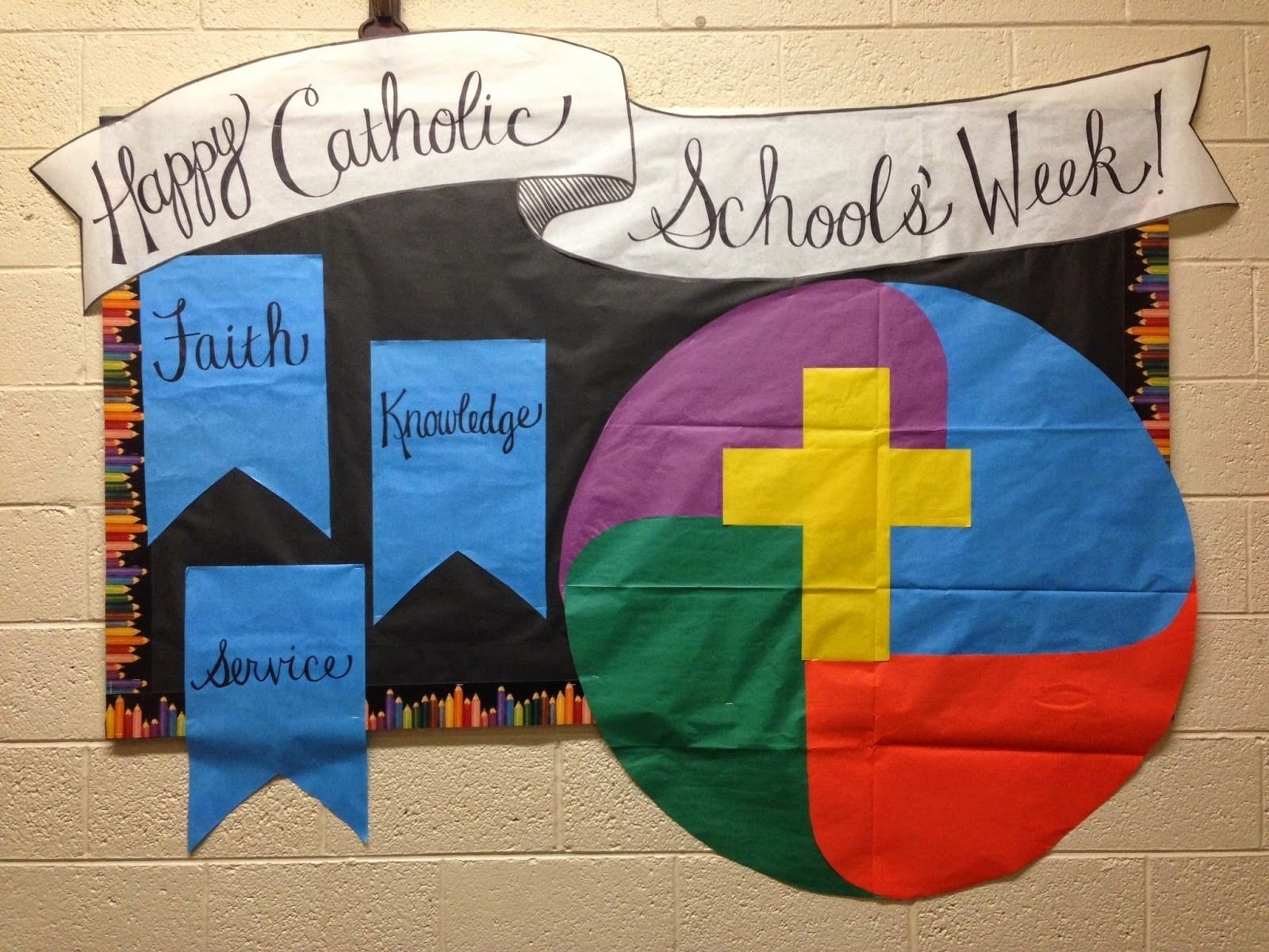 catholic schools week 2015 bulletin board idea | religious ed ideas