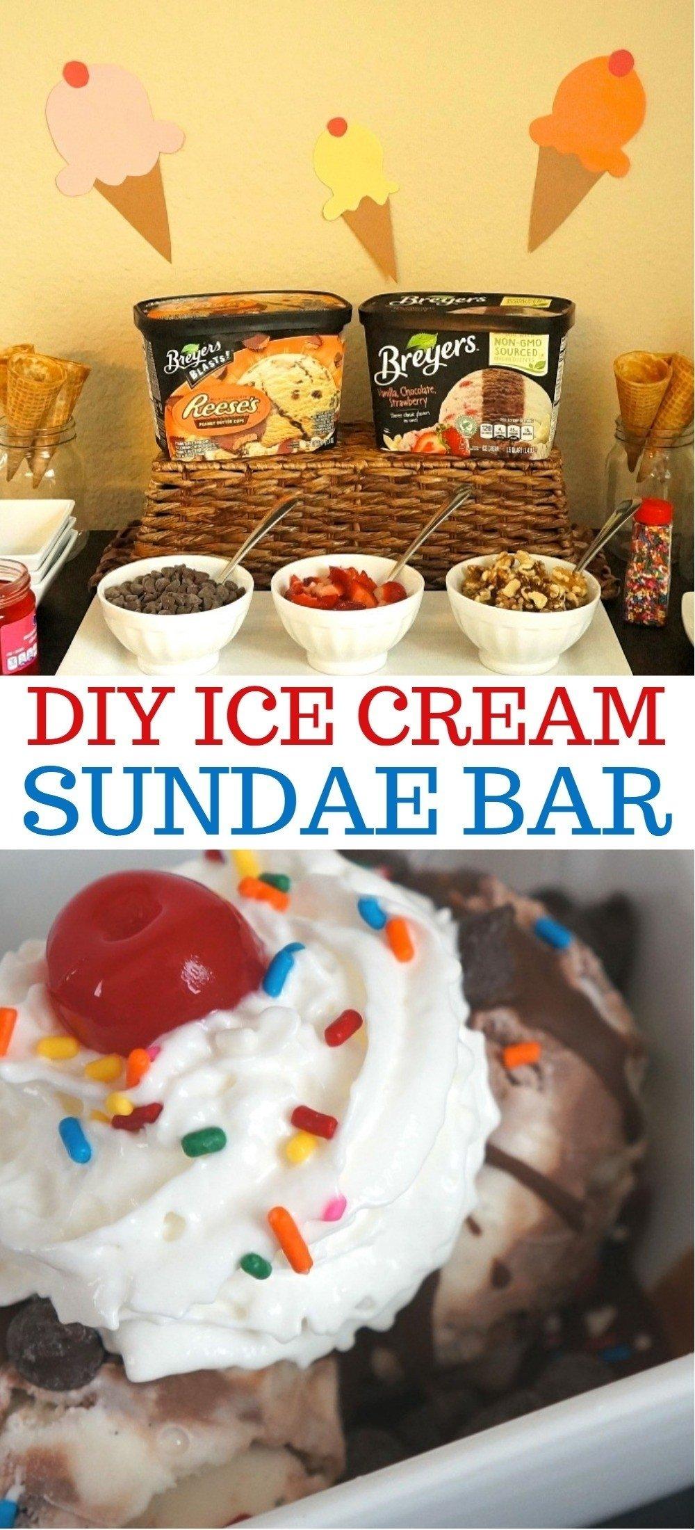 10 Beautiful Ice Cream Sundae Bar Ideas celebrate the end of summer with a tasty diy ice cream sundae bar 2020