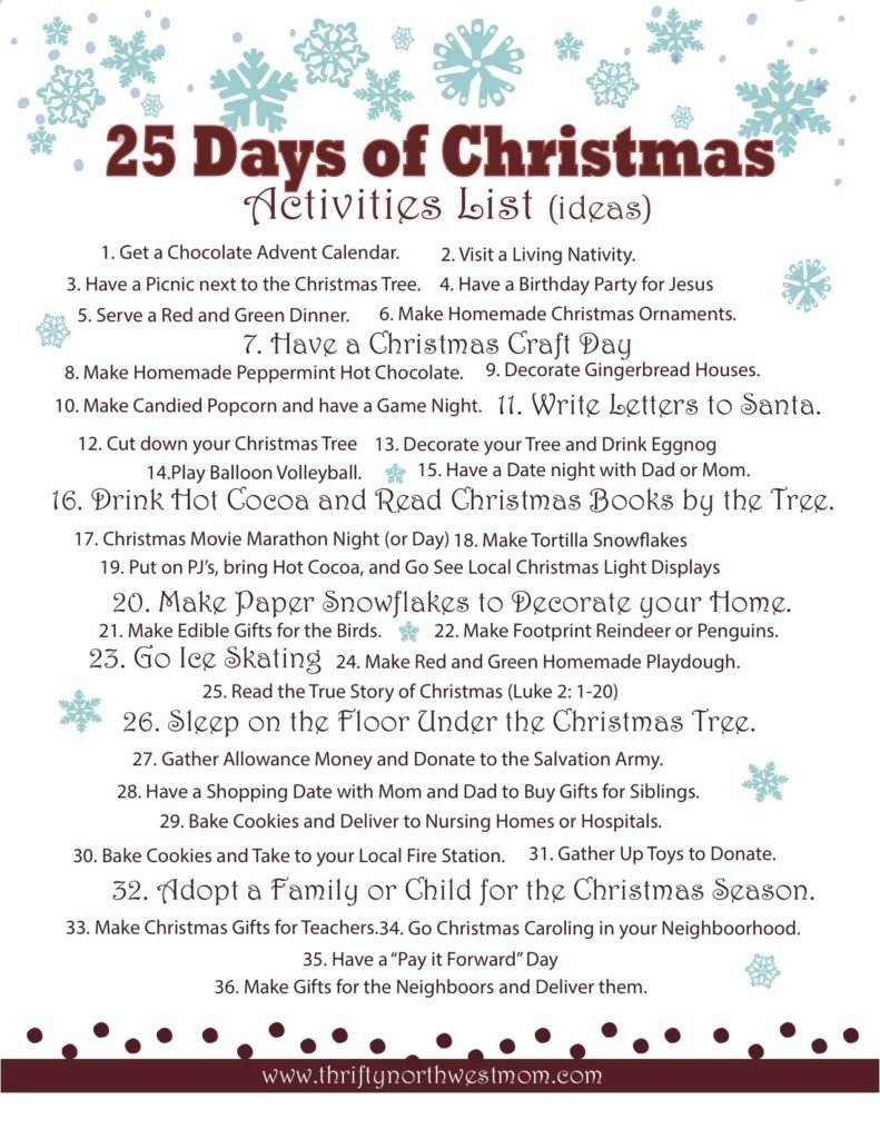 10 Stylish Christmas Game Ideas For Families celebrating the 25 days of christmas activities list christmas 2020