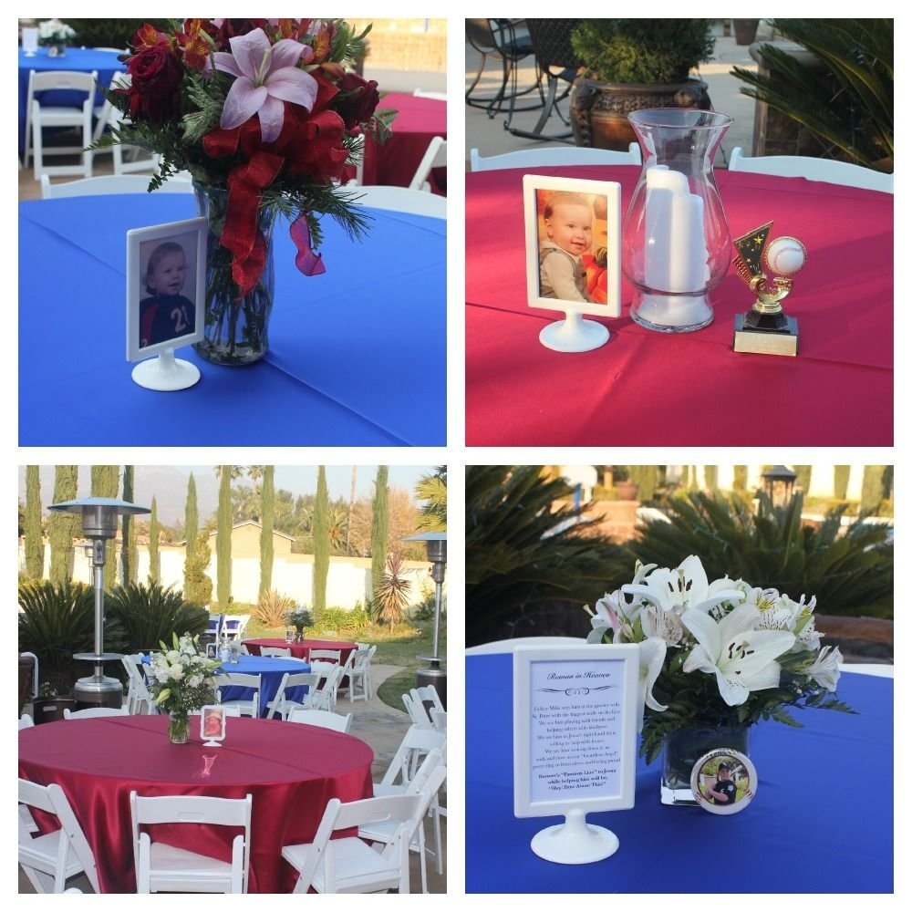 10 Fashionable Ideas For Celebration Of Life celebration of life reception each table had a photo frame with a 2021