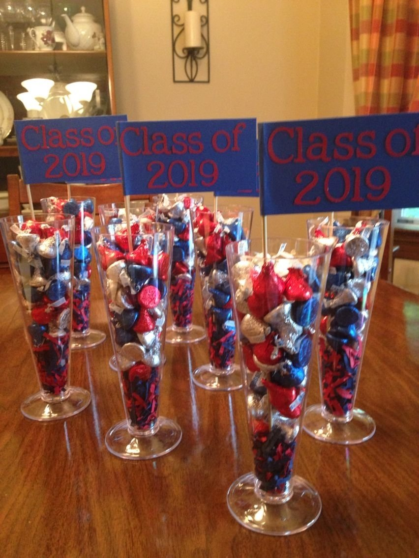 10 Lovable High School Graduation Open House Ideas centerpieces for my daughters 8th grade graduation party kim l 1 2021