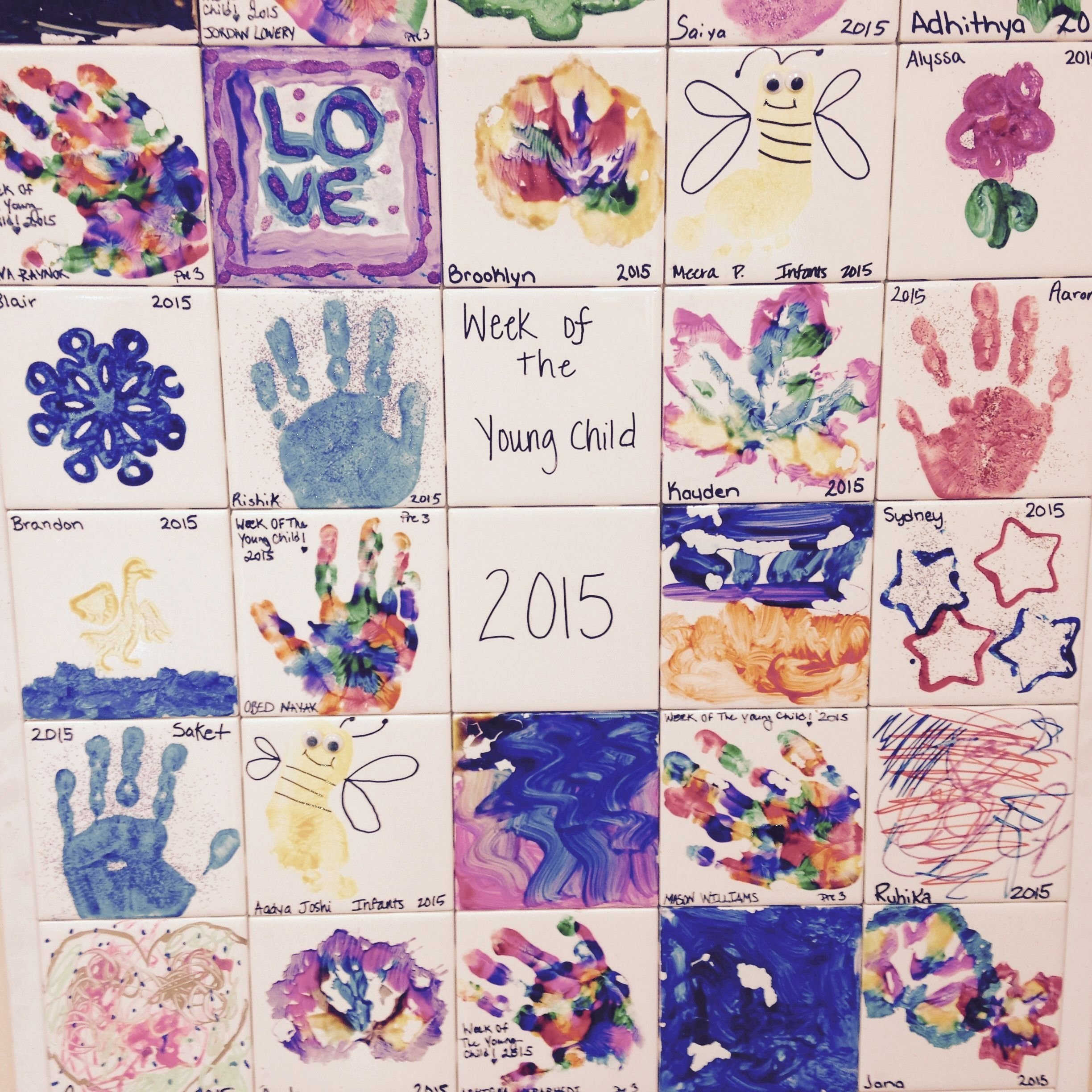 10 Lovely Week Of The Young Child Ideas ceramic tile art display for wotyc gateway mallard nc week of