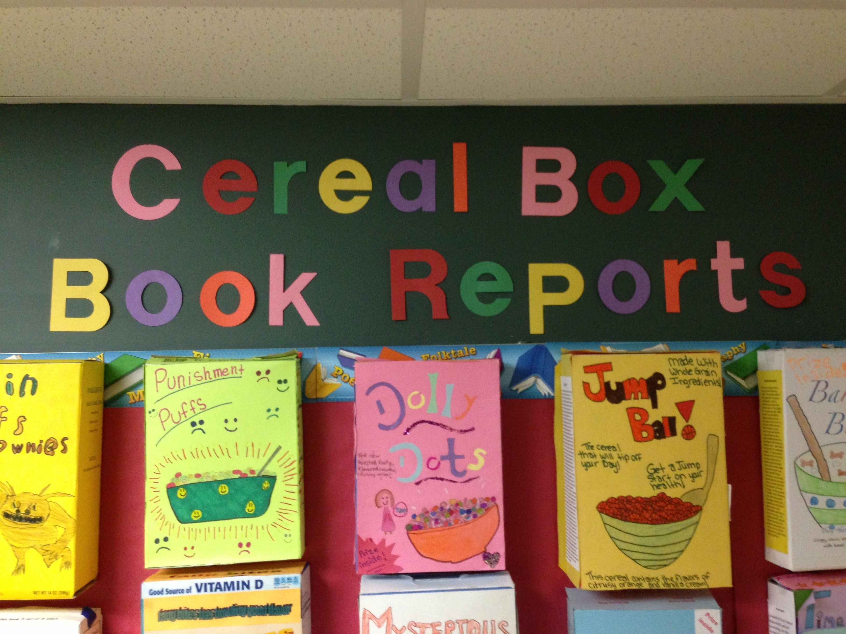 cereal box book reports | steven noyes: 4th grade | pinterest