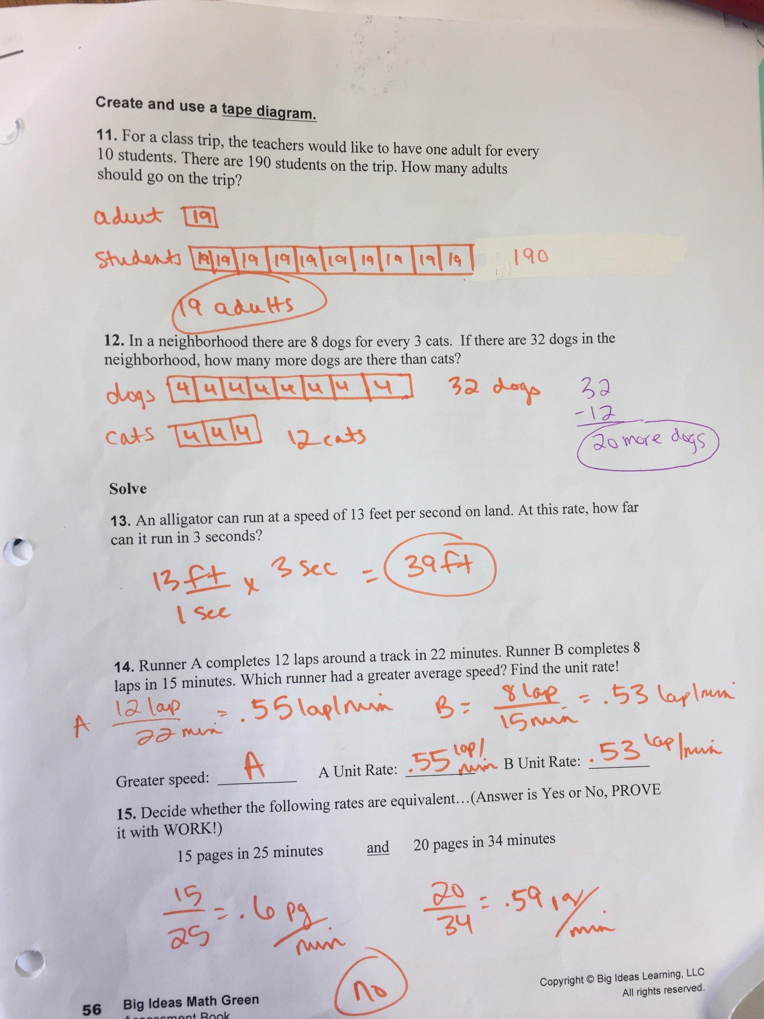 10 Unique Big Ideas Math Answer Key ch 5 quiz study guide answer key mrs gillespie 1 2021