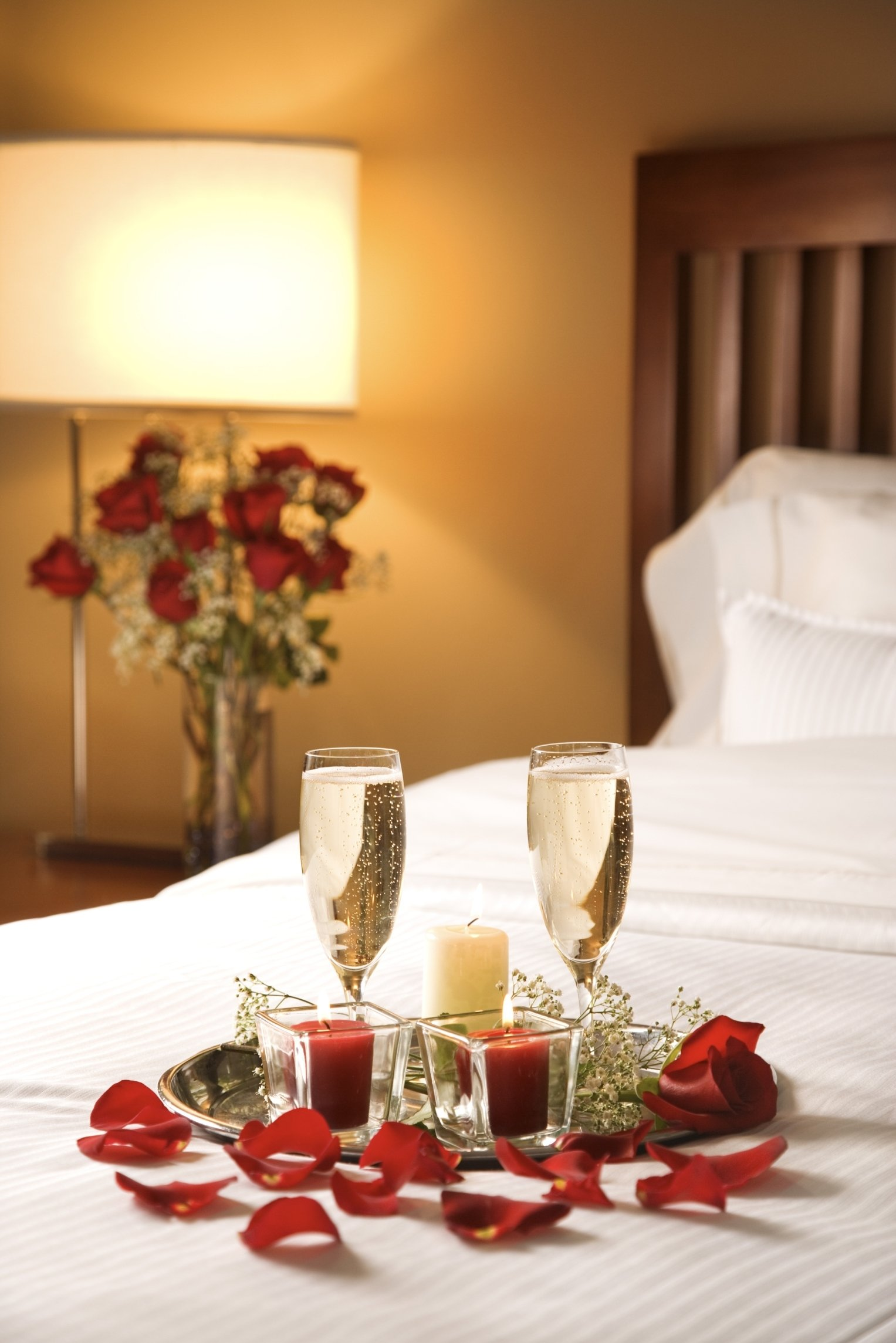 10 Fabulous Ideas For A Romantic Night In A Hotel champagne in bed valentines day pinterest champagne 2020