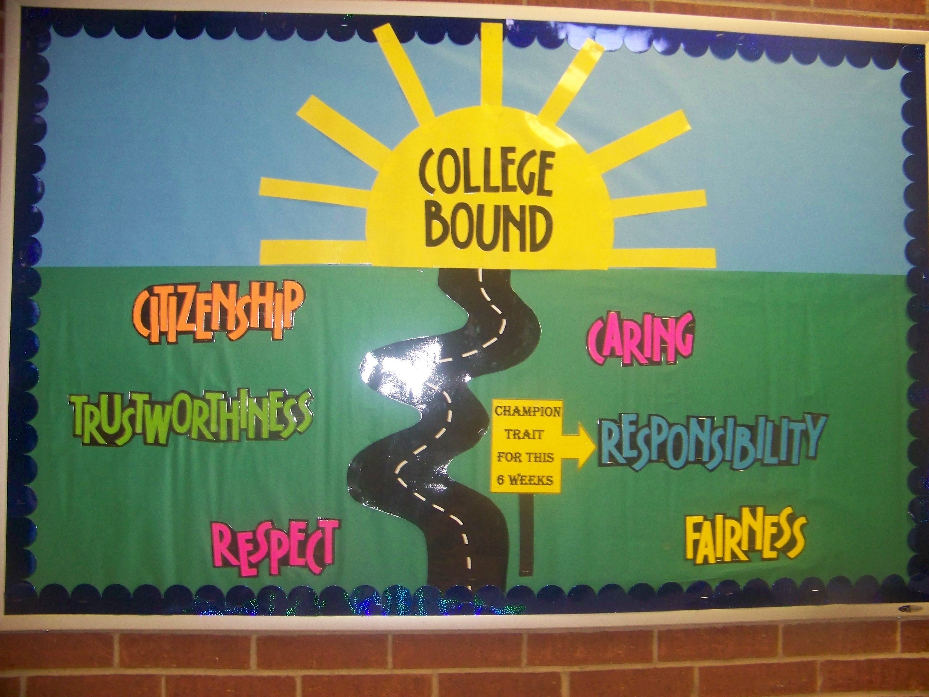 champion traits bulletin board | bulletin boards | pinterest