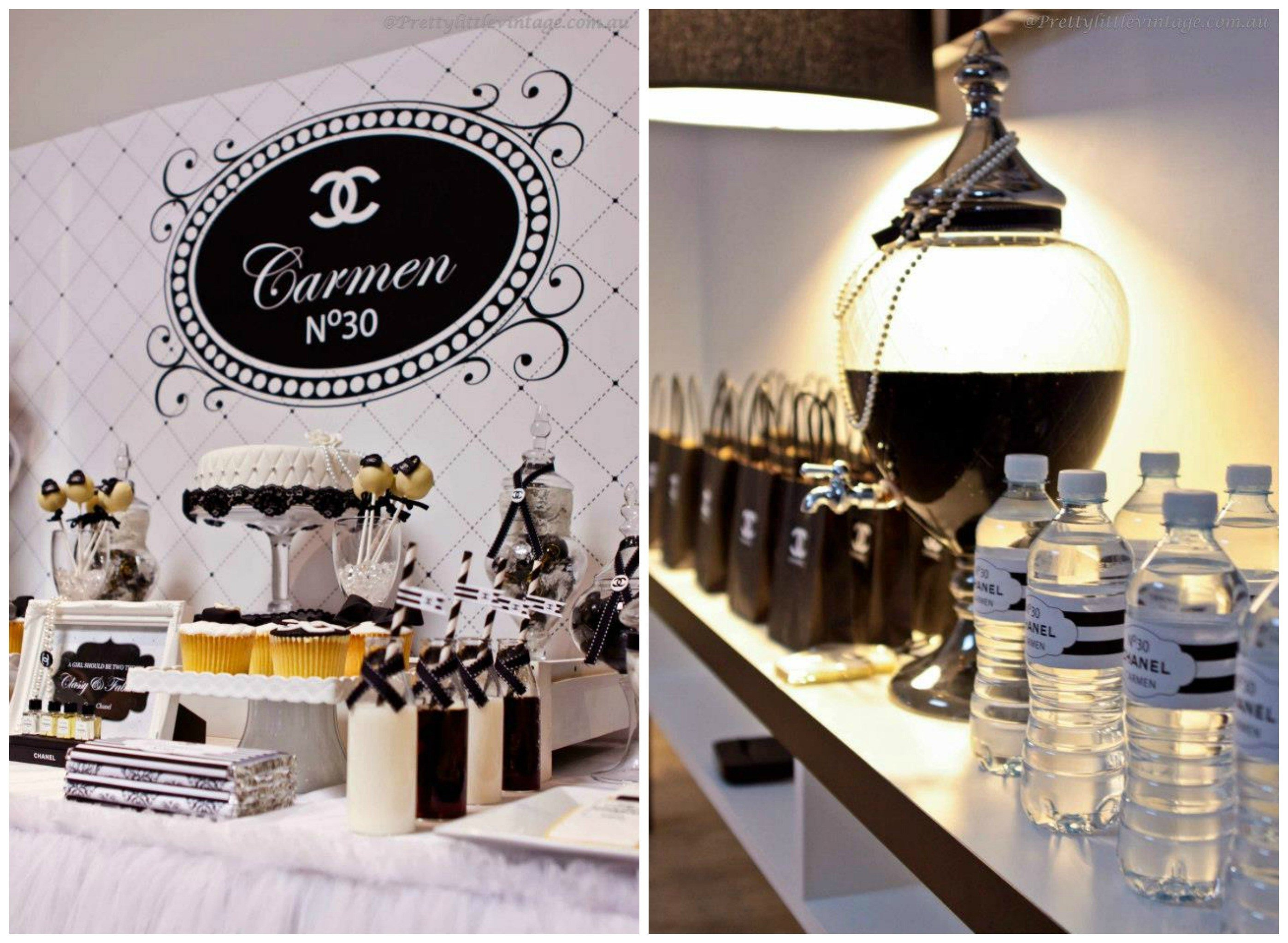 10 Gorgeous Party Ideas For 30Th Birthday chanel inspired 30th birthday party 1