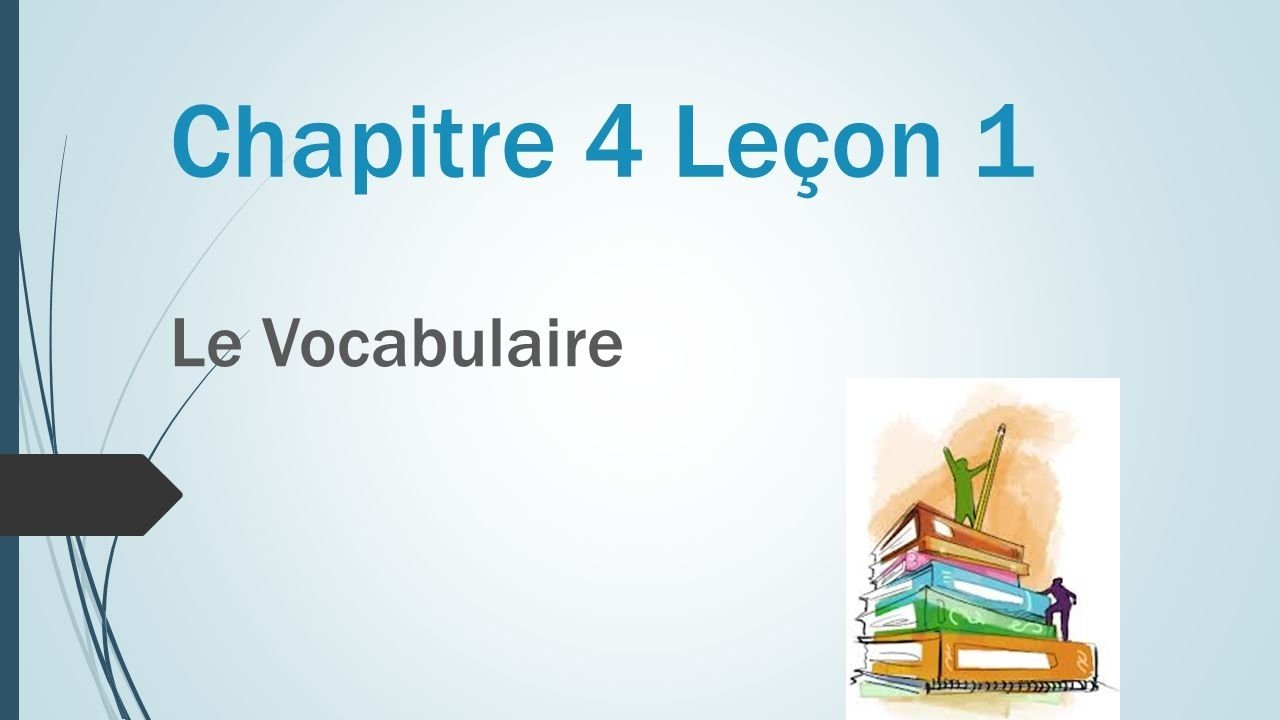 10 Elegant Person Place Thing Or Idea chapitre 4 lecon 1 le vocabulaire chapitre 4 lecon 1 le vocabulaire 2020