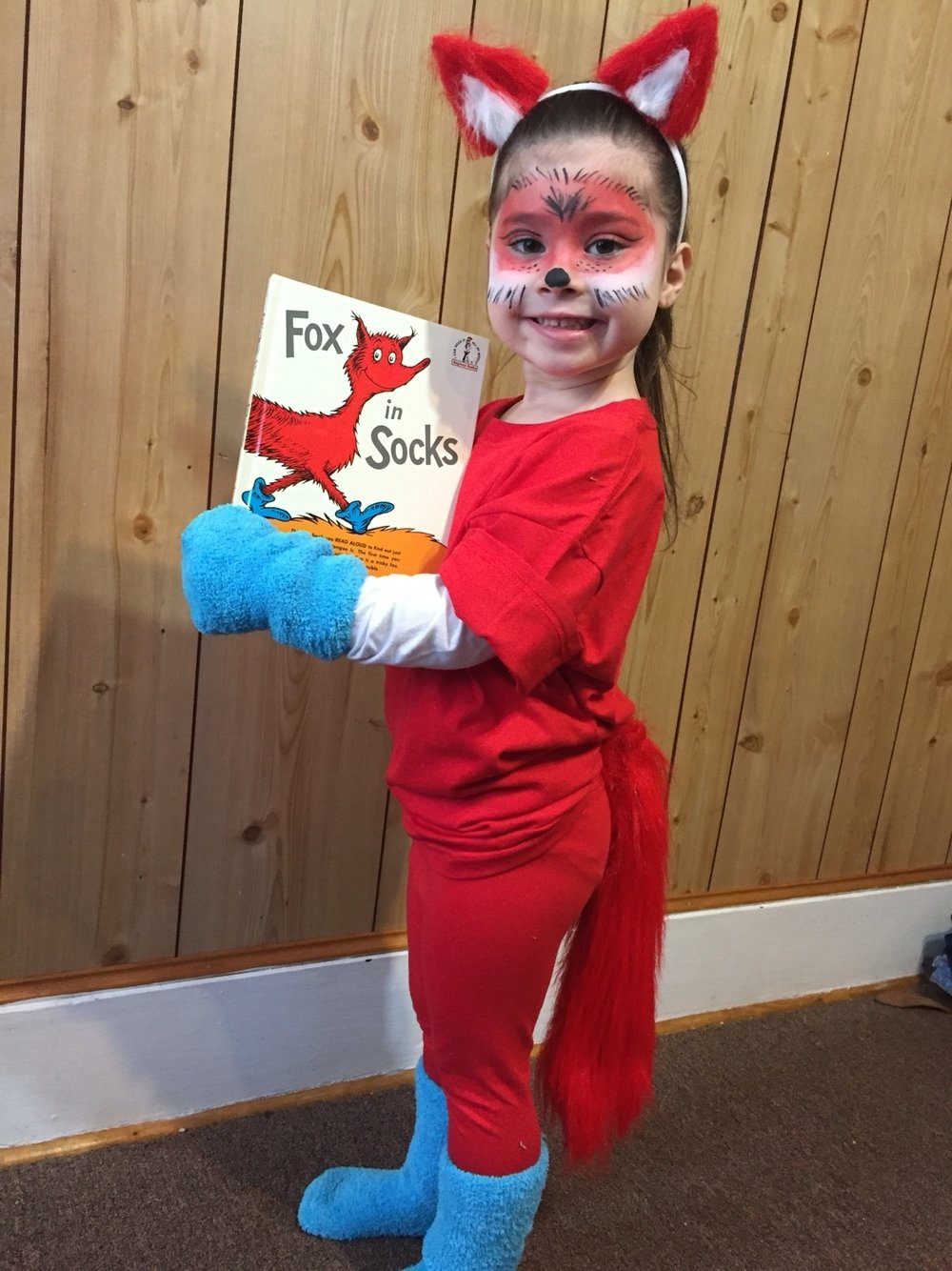 10 Stylish Easy Dr Seuss Costume Ideas character day at school fox in socks diy costume my personal 3 2020