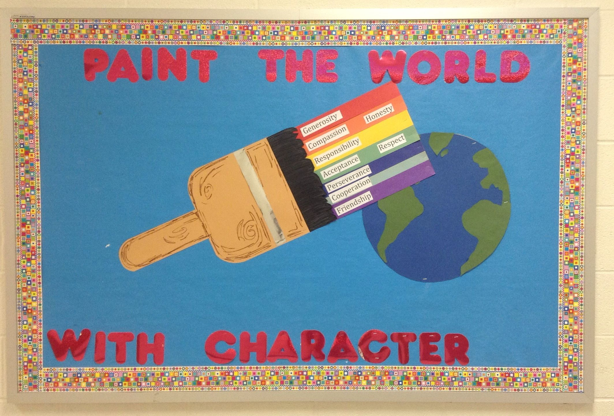 character education bulletin board | miscellaneous | school bulletin