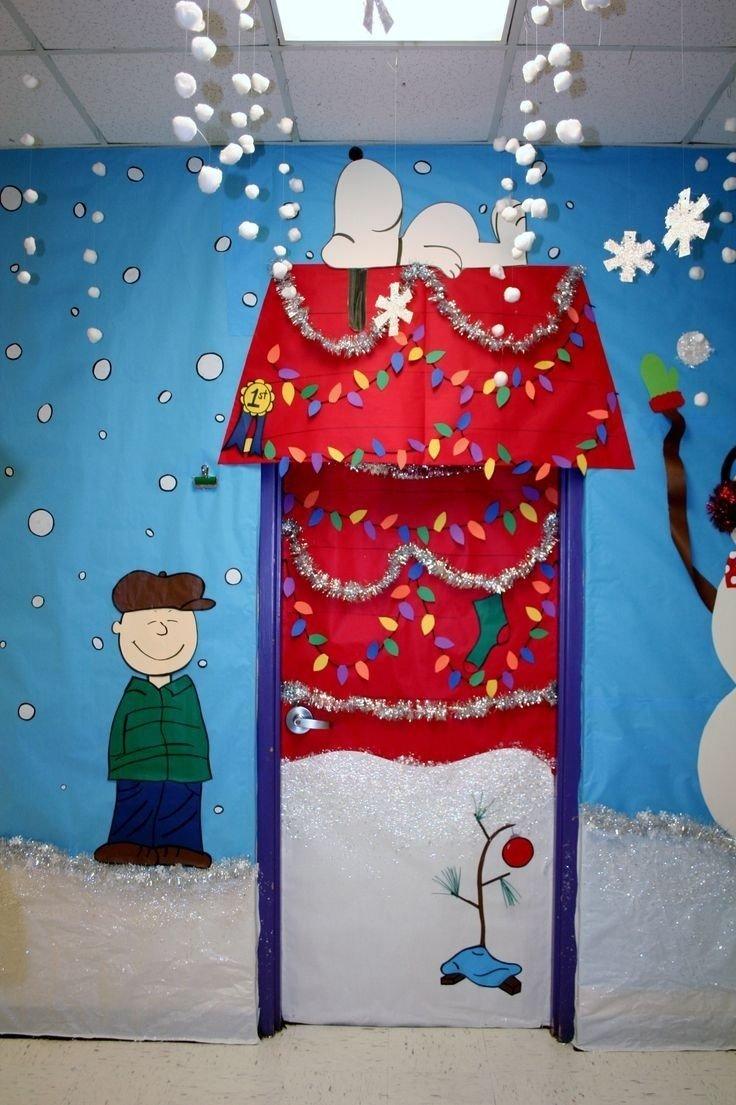 charlie brown classroom door | bulletin boards | pinterest