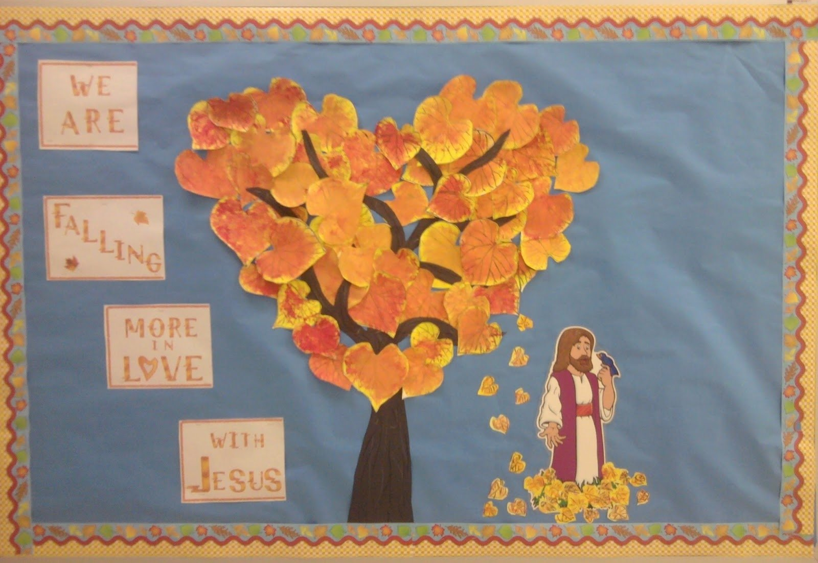 10 Best Fall Bulletin Board Ideas For Church charlottes clips and kindergarten kids autumn is here 1 2020