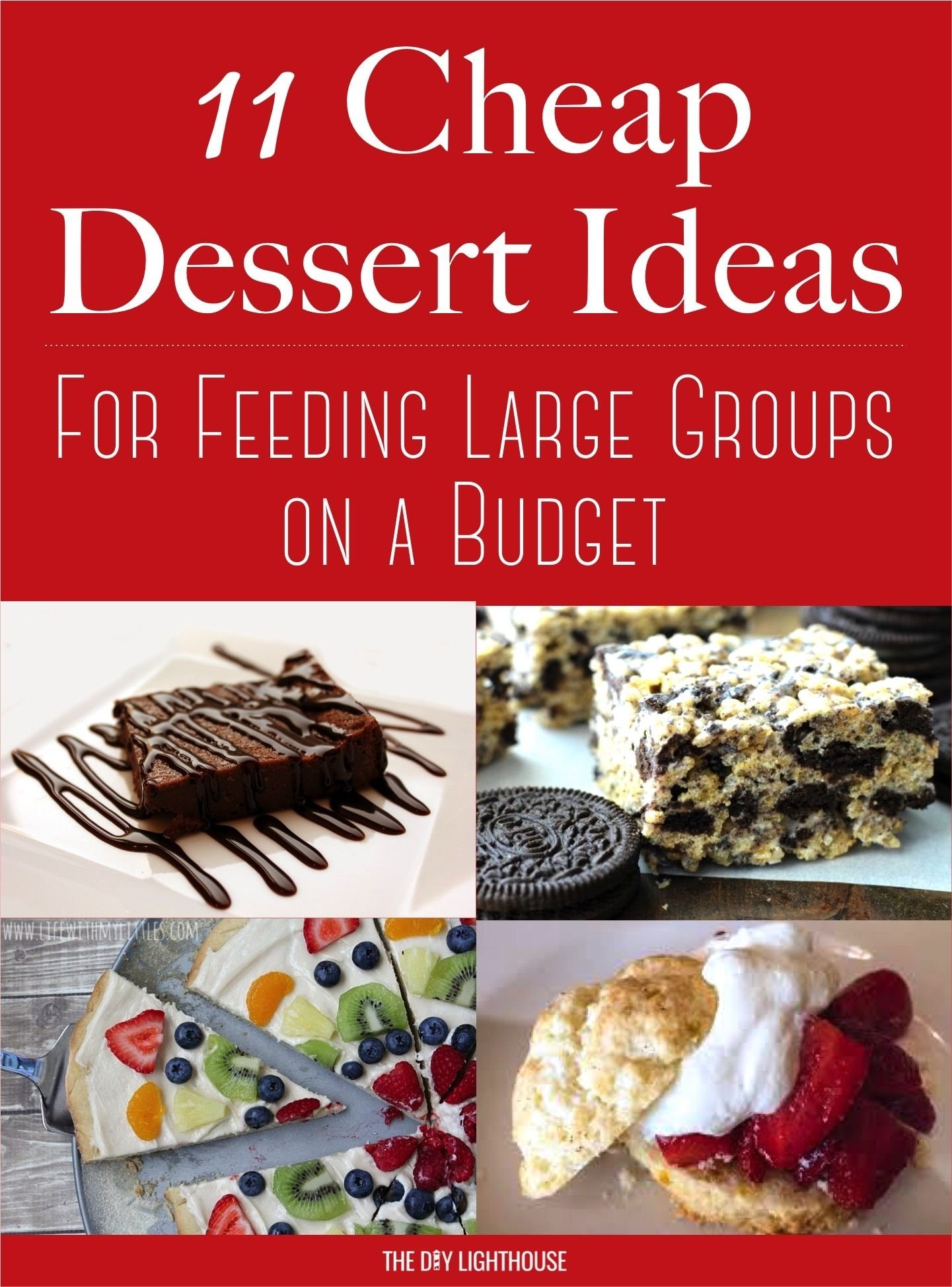 10 Nice Menu Ideas For Large Groups cheap dessert ideas to feed a big group on a budget crowd 2021