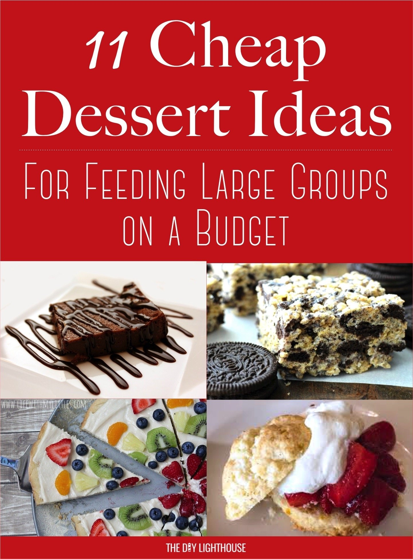 10 Great Dinner Ideas For Large Groups cheap dessert ideas to feed a big group on a budget the diy lighthouse 2021