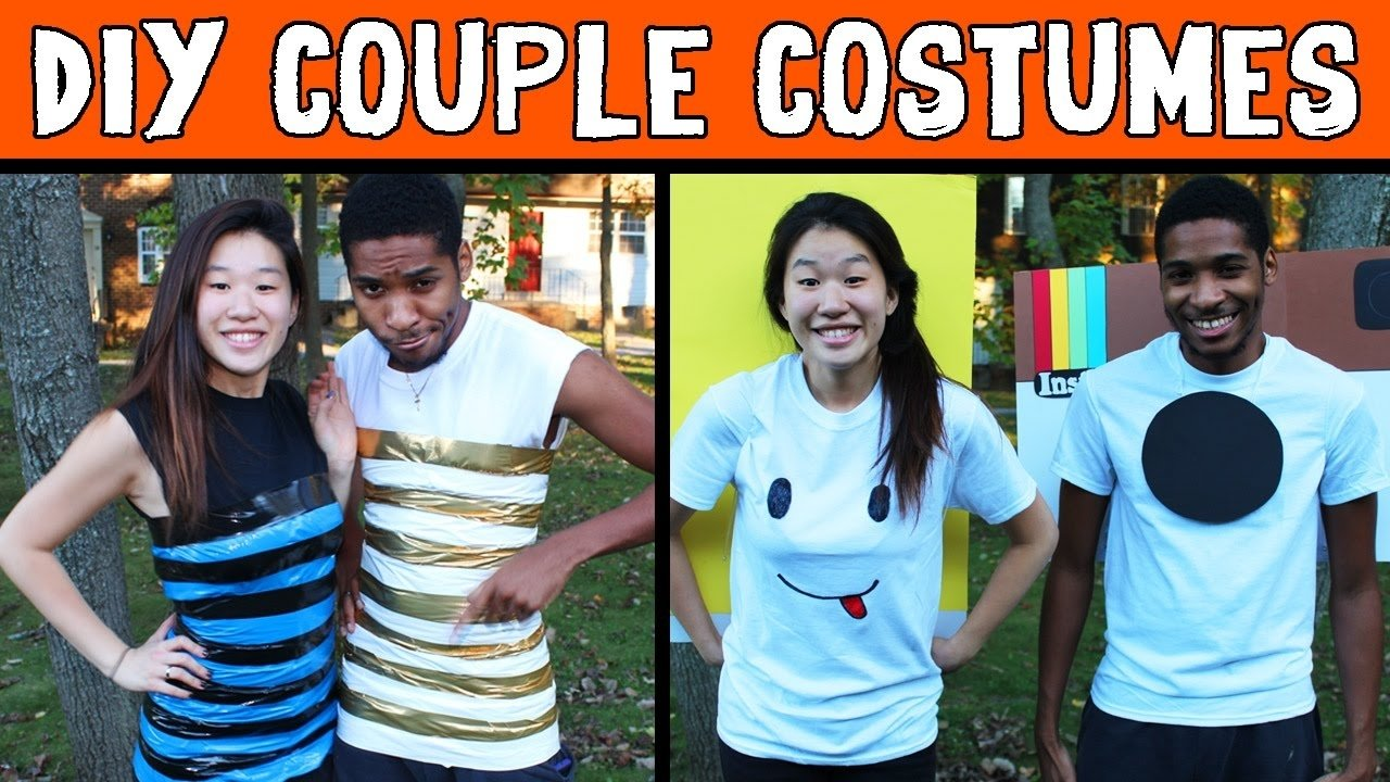 10 Cute Cheap Costume Ideas For Couples cheap diy halloween costumes for couples instagram snapchat 2020