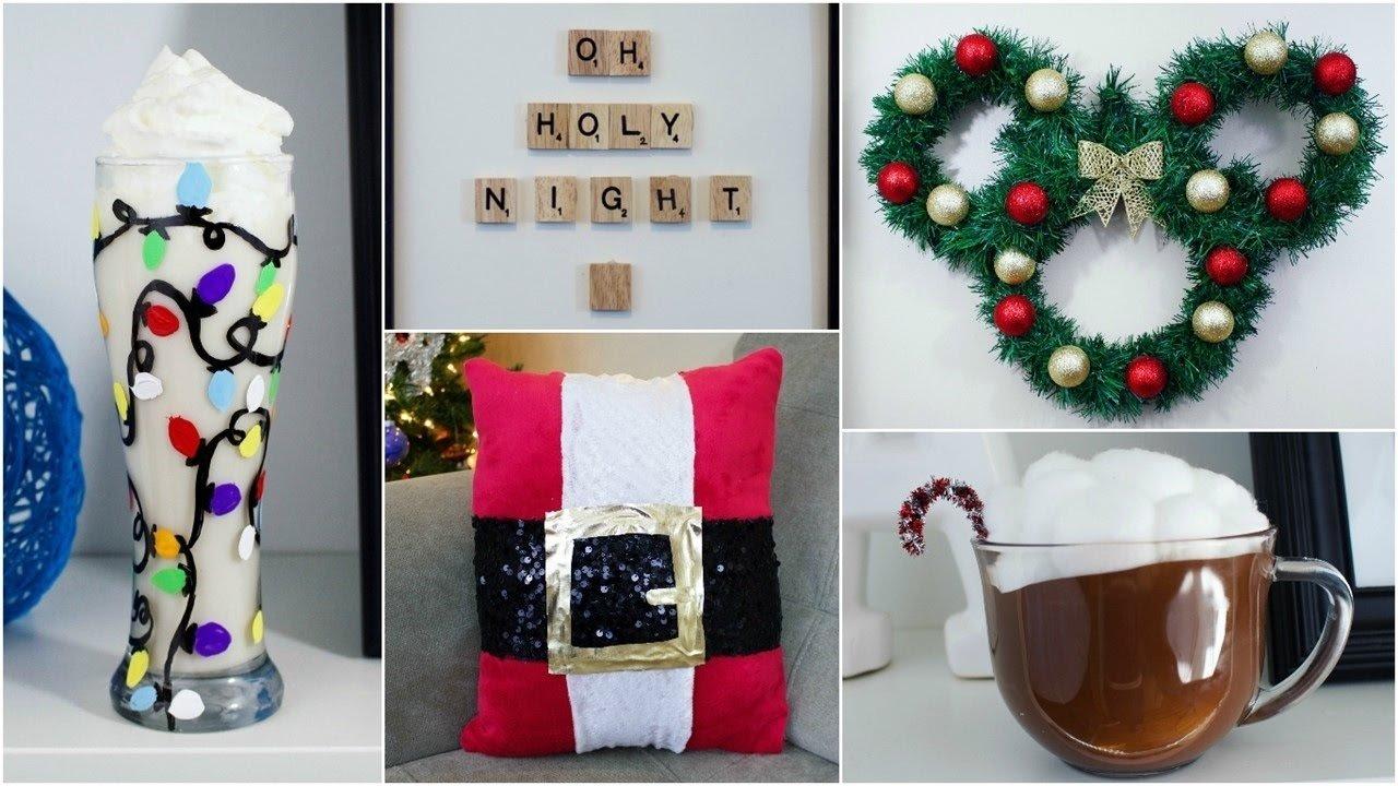 cheap & easy diy christmas decor ideas | pinterest inspired - youtube