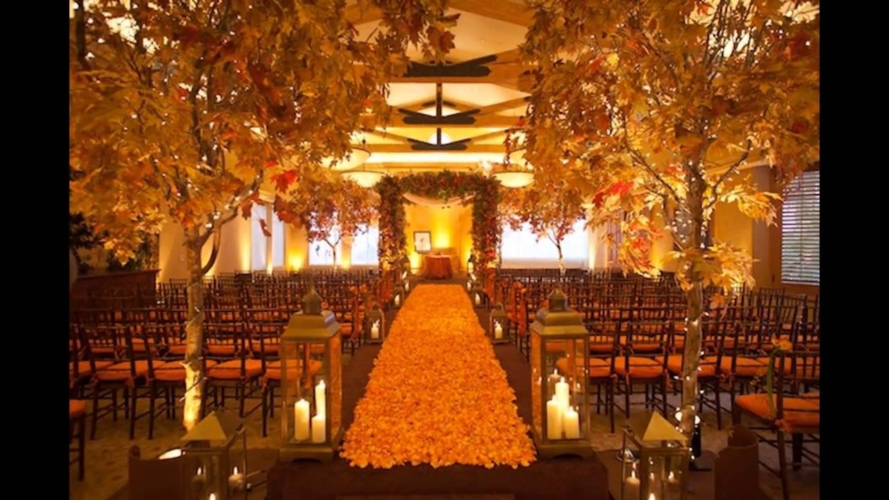 cheap fall wedding decorating ideas - youtube