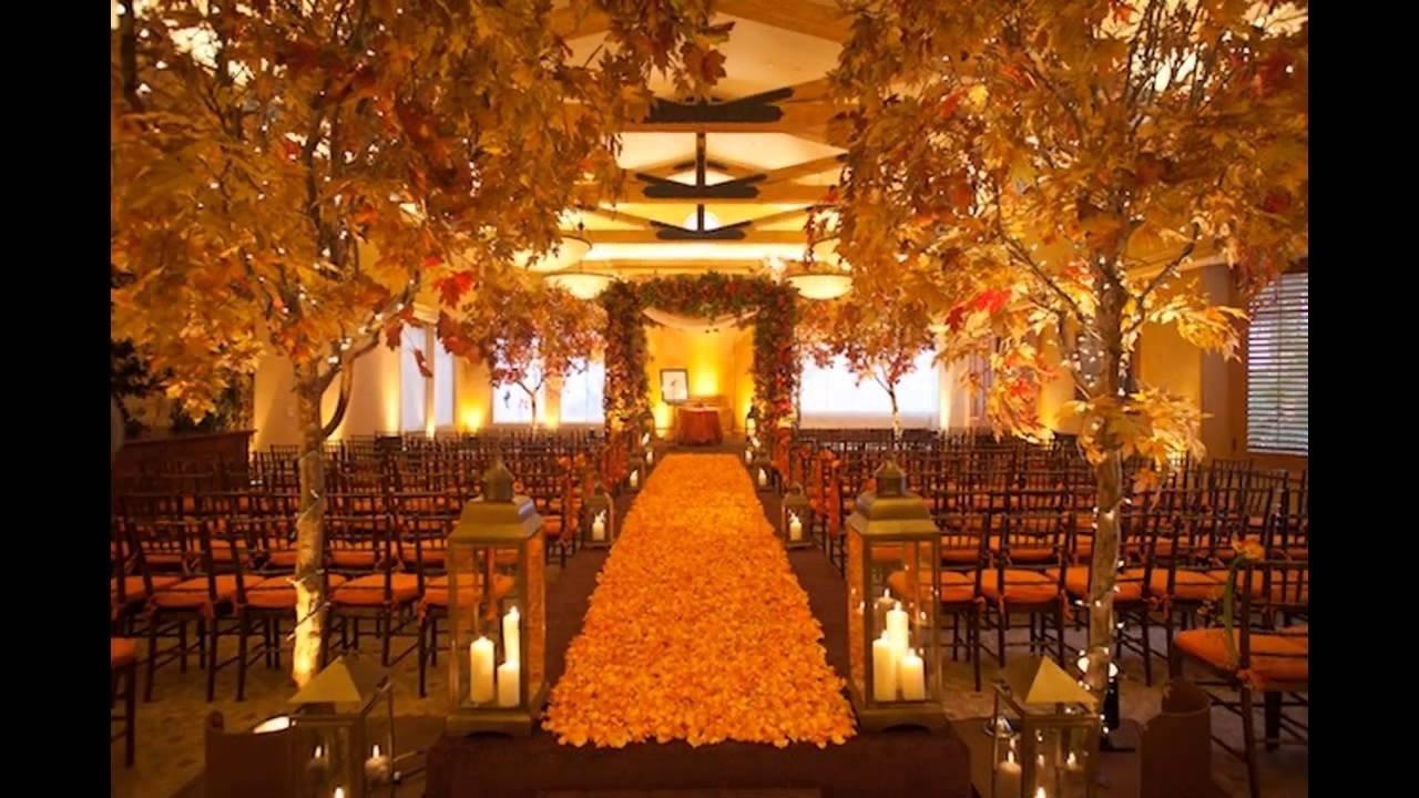 cheap fall wedding decorating ideas - youtube