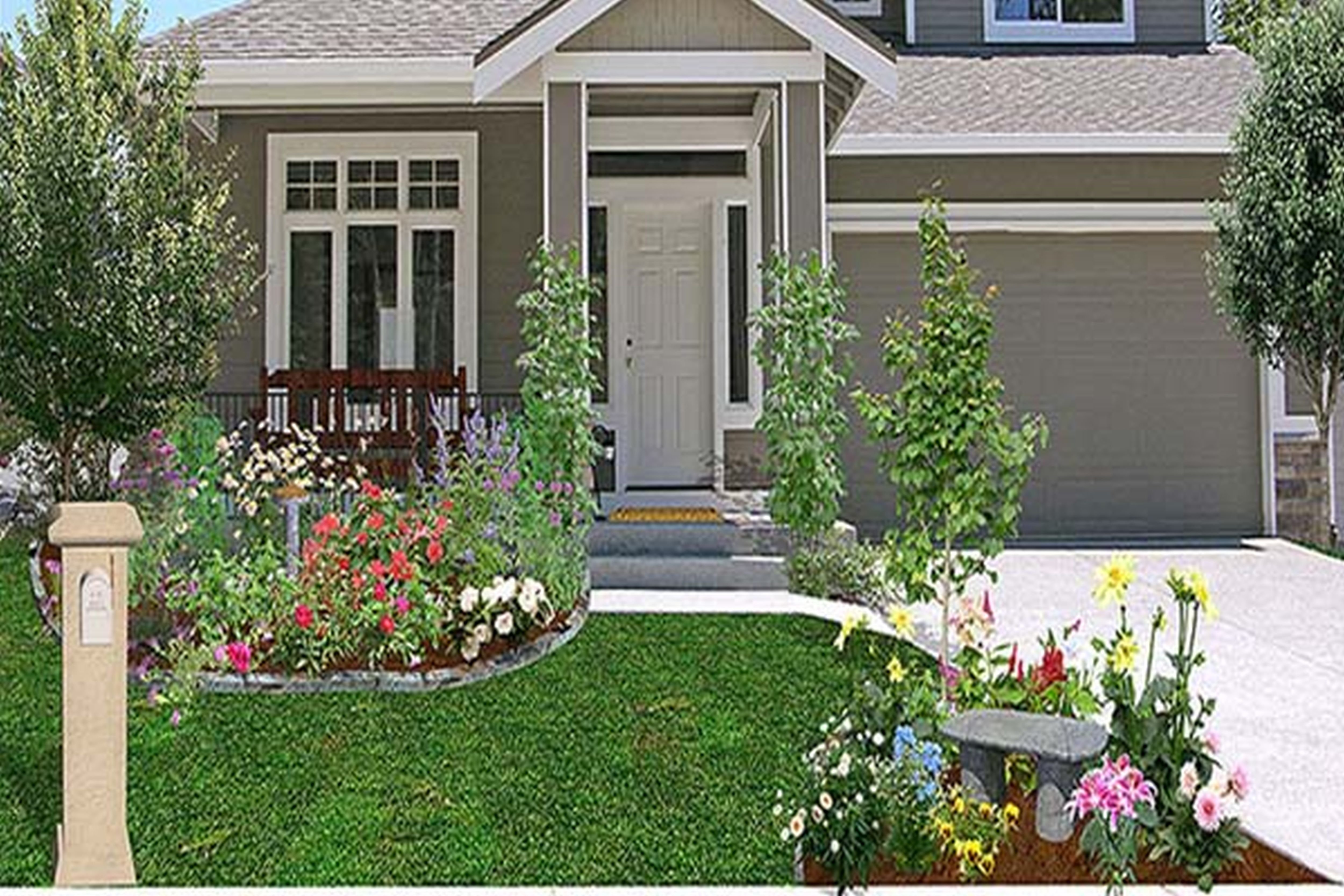 10 Spectacular Front Yard Landscaping Ideas On A Budget cheap landscaping ideas for front yard amys office greenvirals style 5 2020