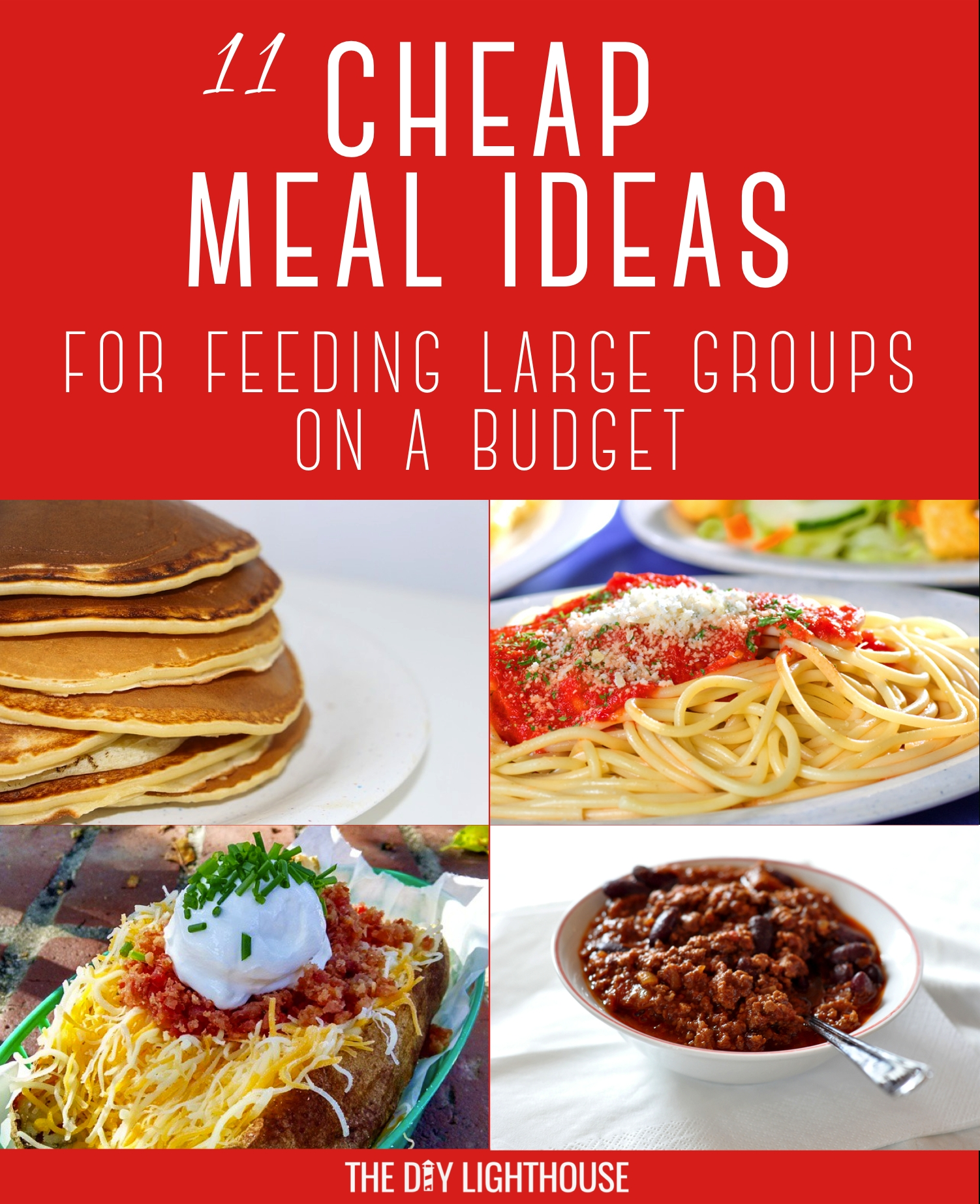 cheap meals for feeding large groups