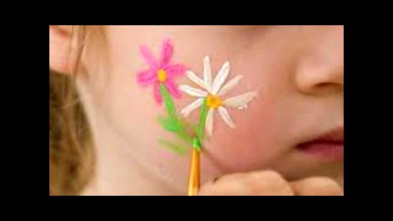 10 Fabulous Easy Face Painting Ideas For Kids Cheeks cheek art designs for children easy simple for beginners