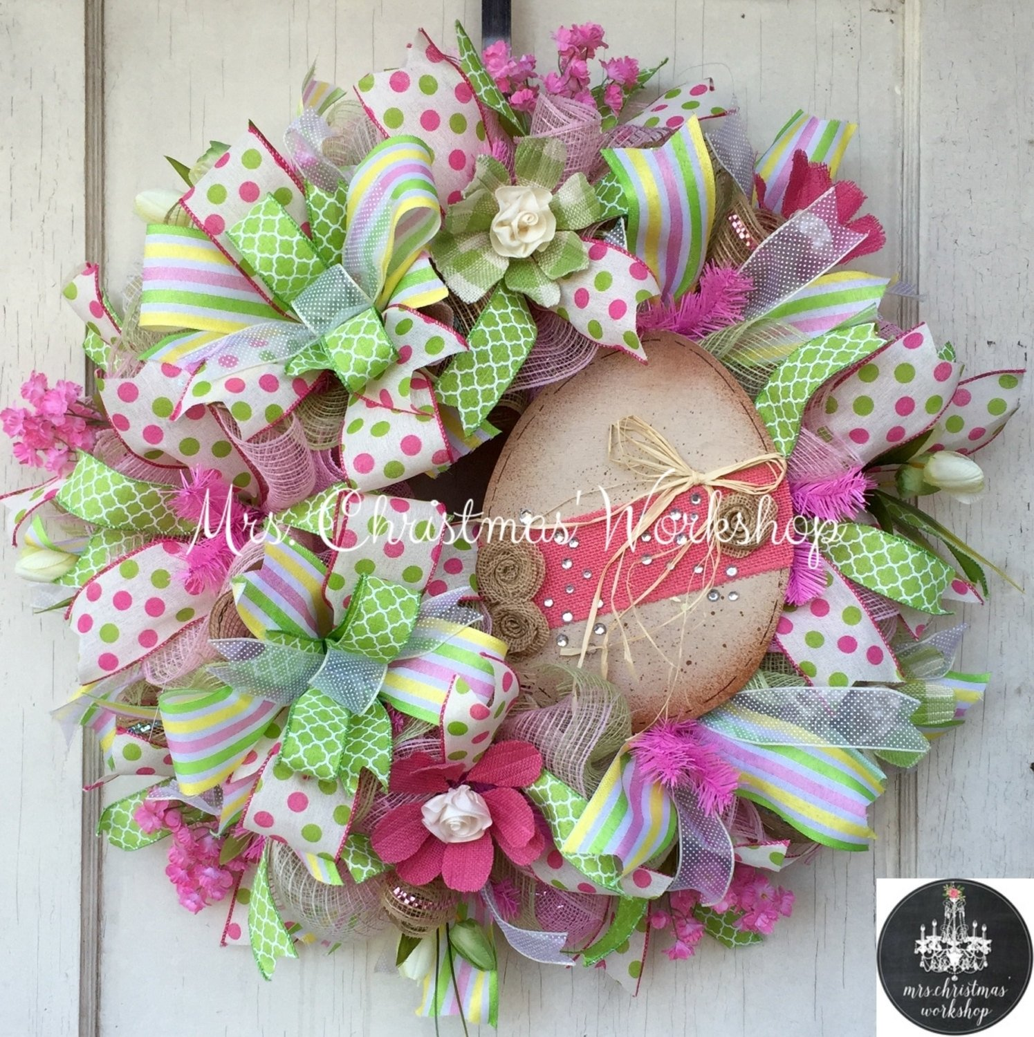 10 Cute Easter Deco Mesh Wreath Ideas cheerful handmade easter wreath designs to get your home in the