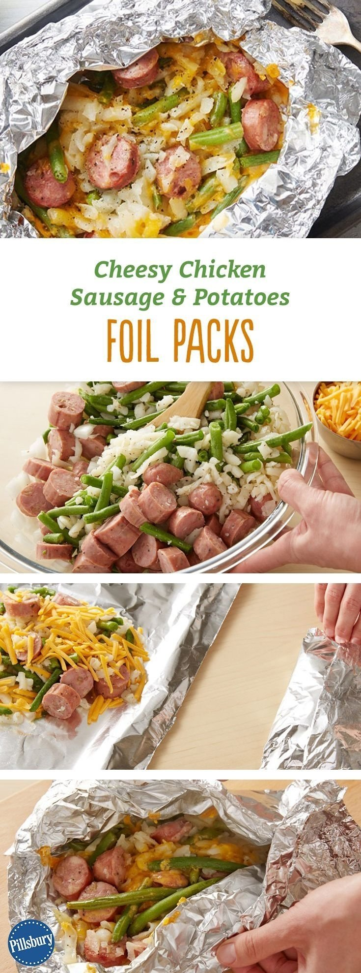 10 Stylish Chicken Apple Sausage Recipe Ideas cheesy chicken sausage and potatoes foil packs recipe sausage