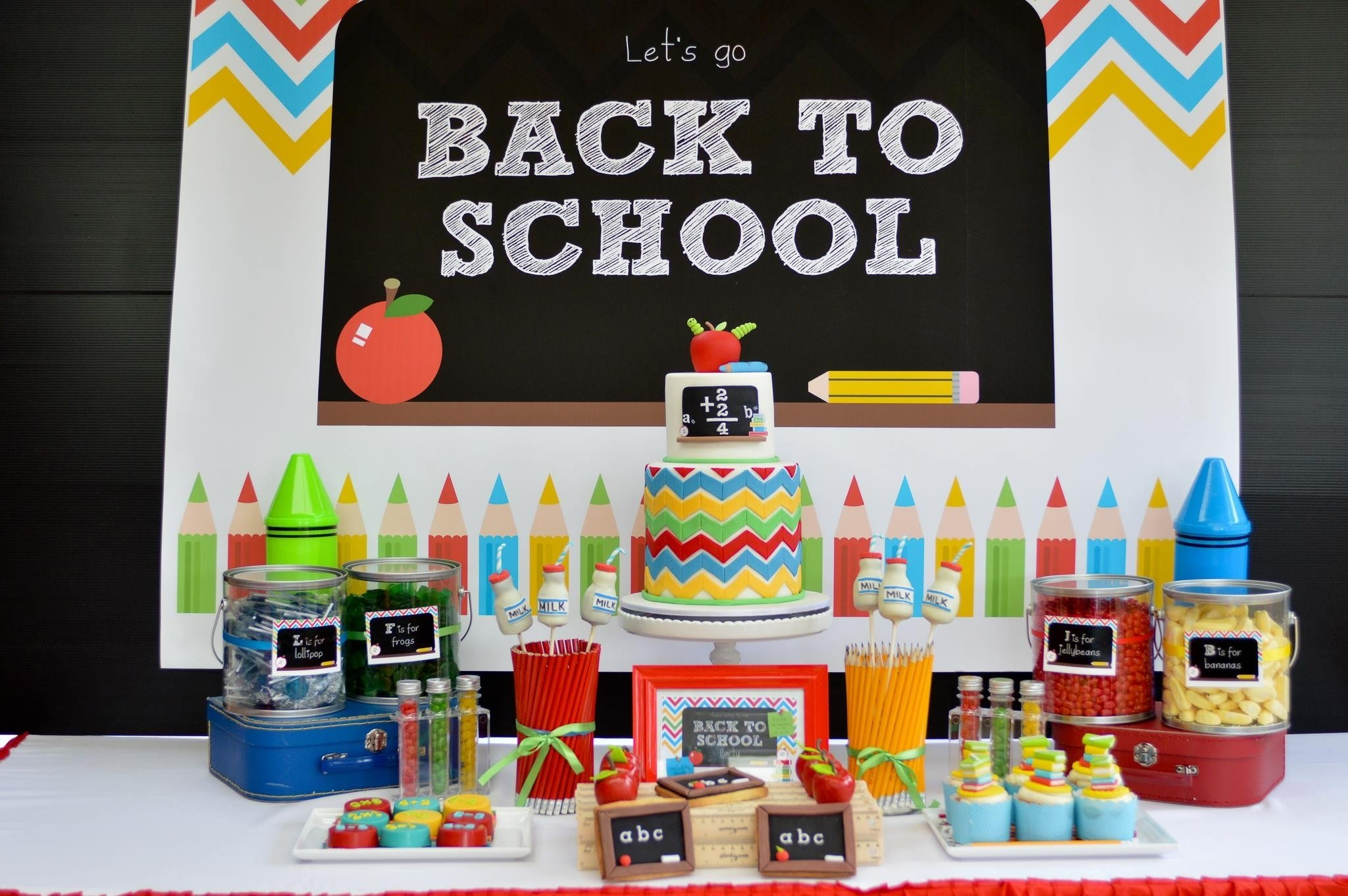 chevron back to school party – a to zebra celebrations