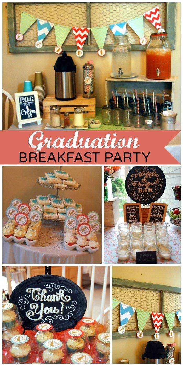 10 Lovable Fun Ideas For Graduation Parties chevron damask graduation end of school modern vintage 2020