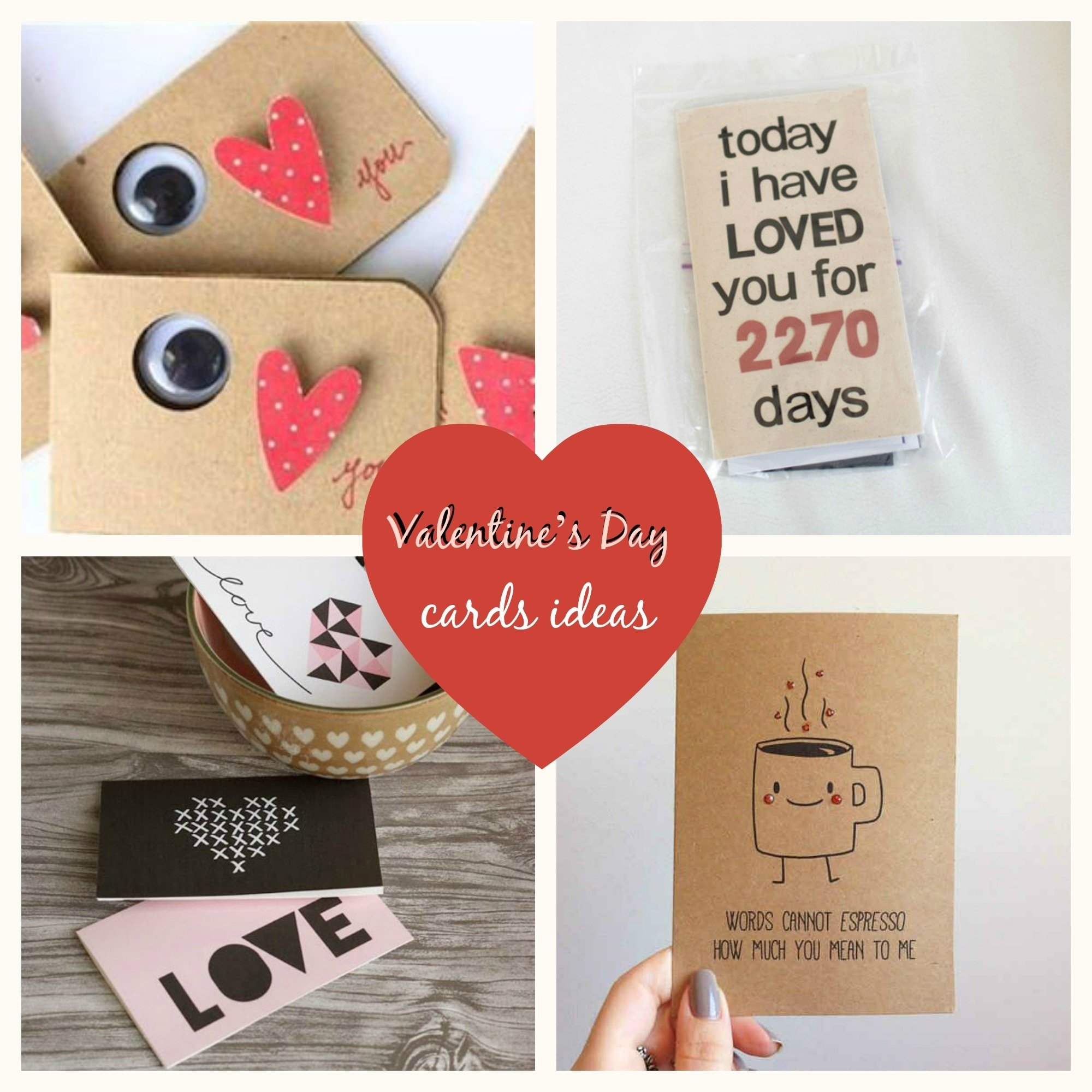 10 Fashionable Valentine Day Card Ideas Homemade chic diy inspiration valentines day cards ideas