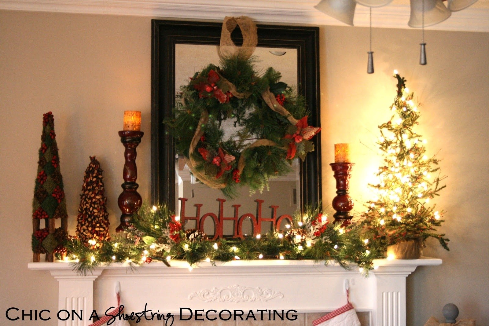 10 Wonderful Christmas Decorating Ideas For Mantels chic on a shoestring decorating rustic christmas mantel 2020