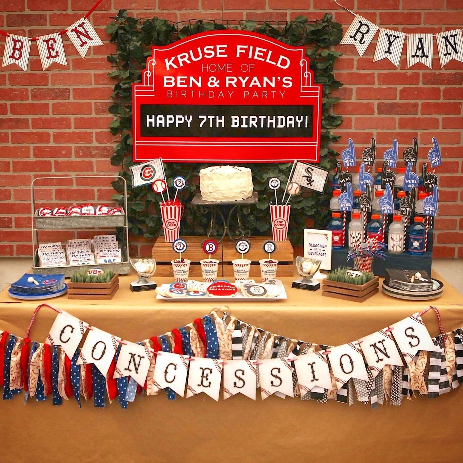 10 Fabulous 30Th Birthday Party Ideas Chicago Cubs From My Etsy Shop