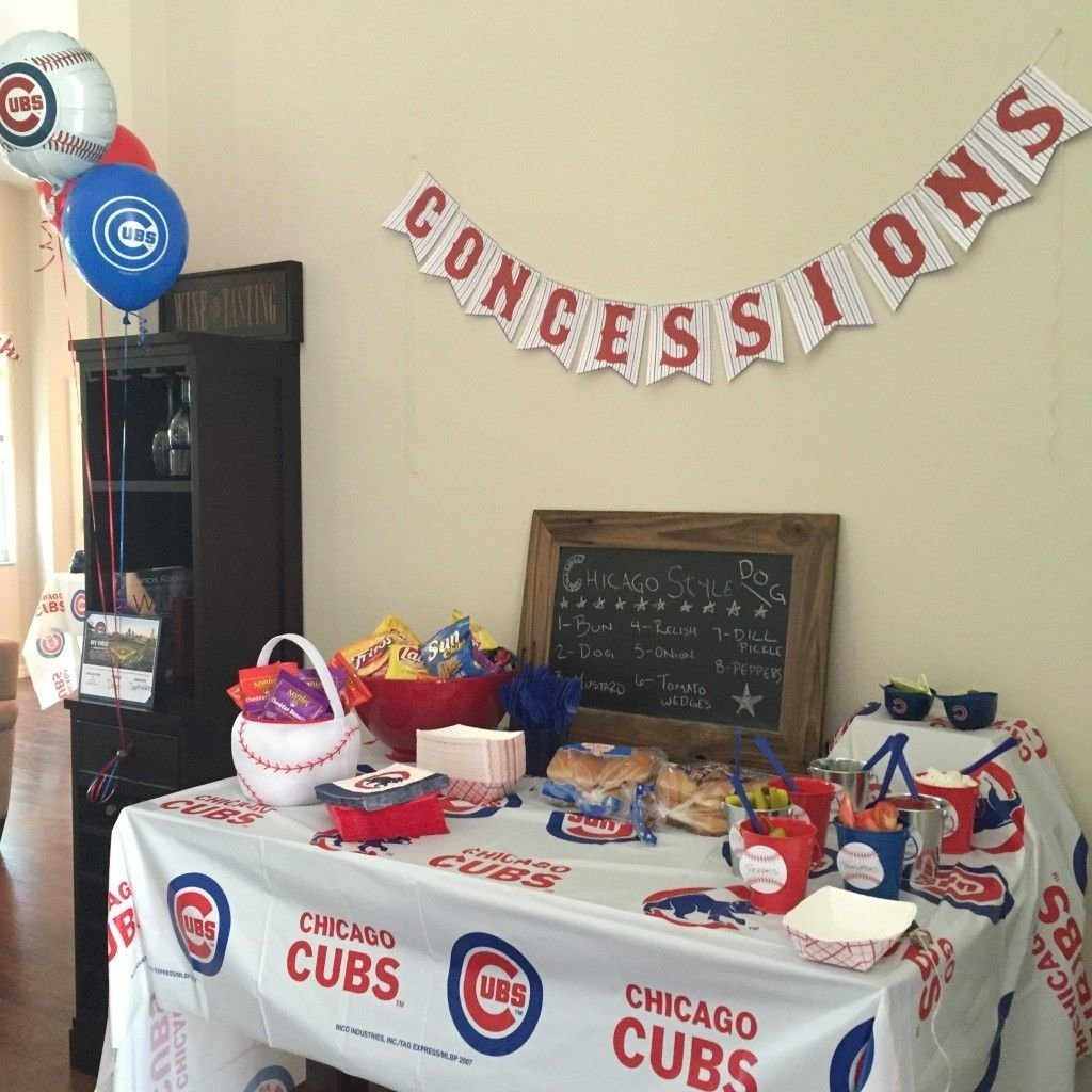 chicago cubs themed birthday party! | dean's first birthday