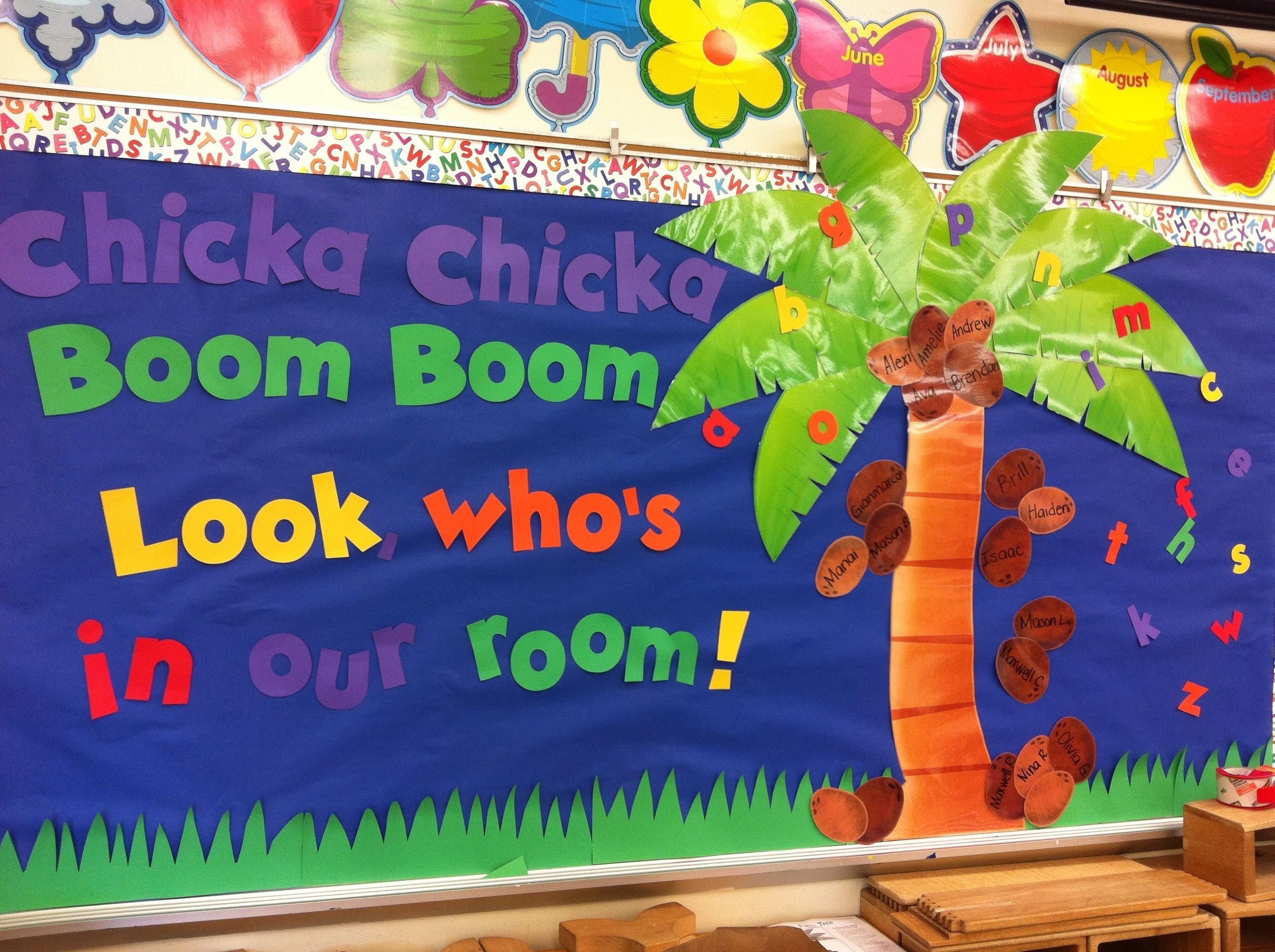 10 Best Chicka Chicka Boom Boom Bulletin Board Ideas chicka chicka boom boom back to school bulletin board classroom 2020