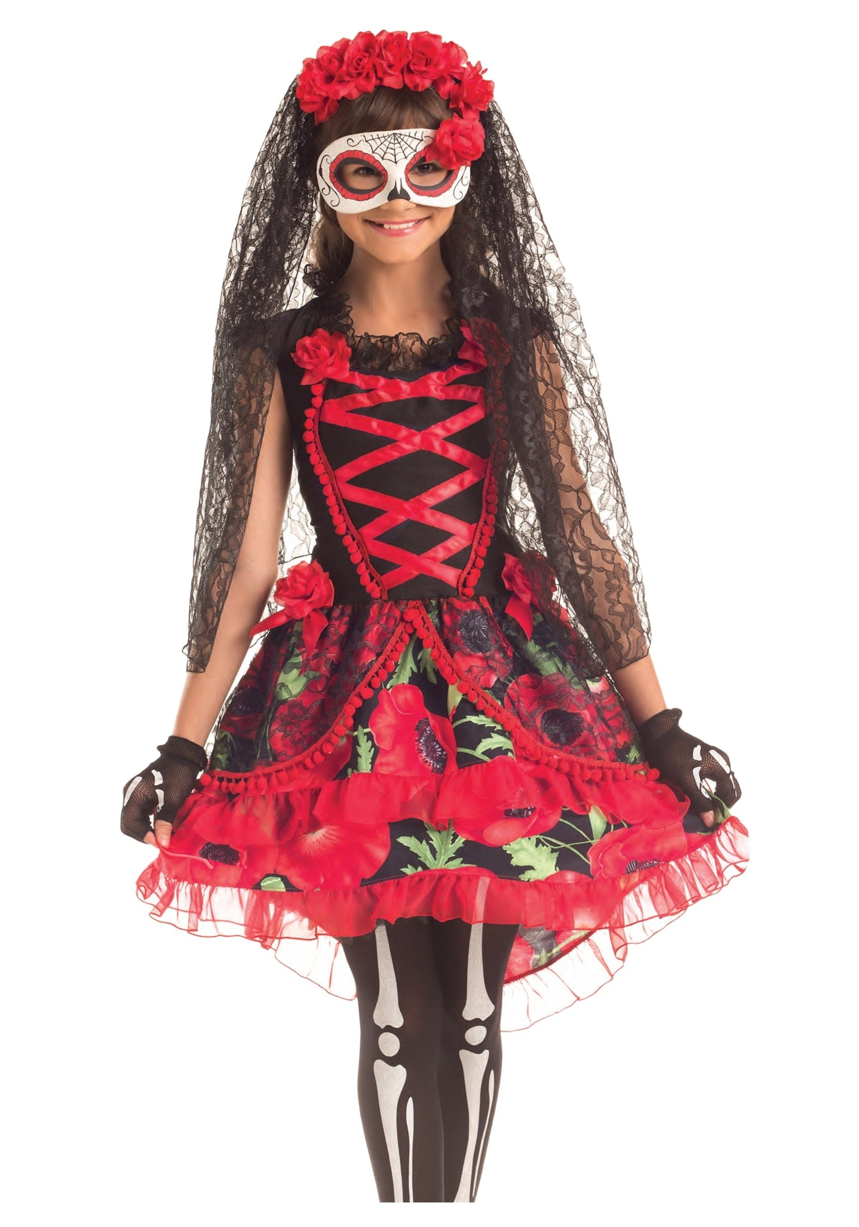 10 Great Day Of The Dead Halloween Costume Ideas child day of the dead senorita costume 2020