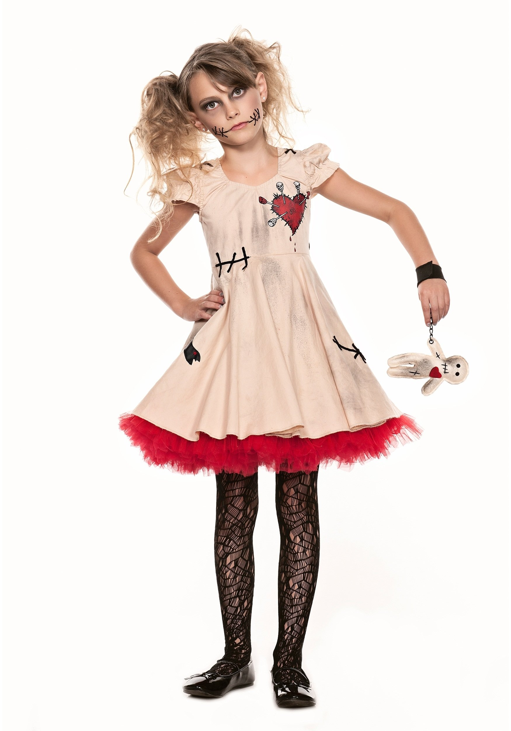 10 Fashionable Scary Costume Ideas For Girls child voodoo doll costume